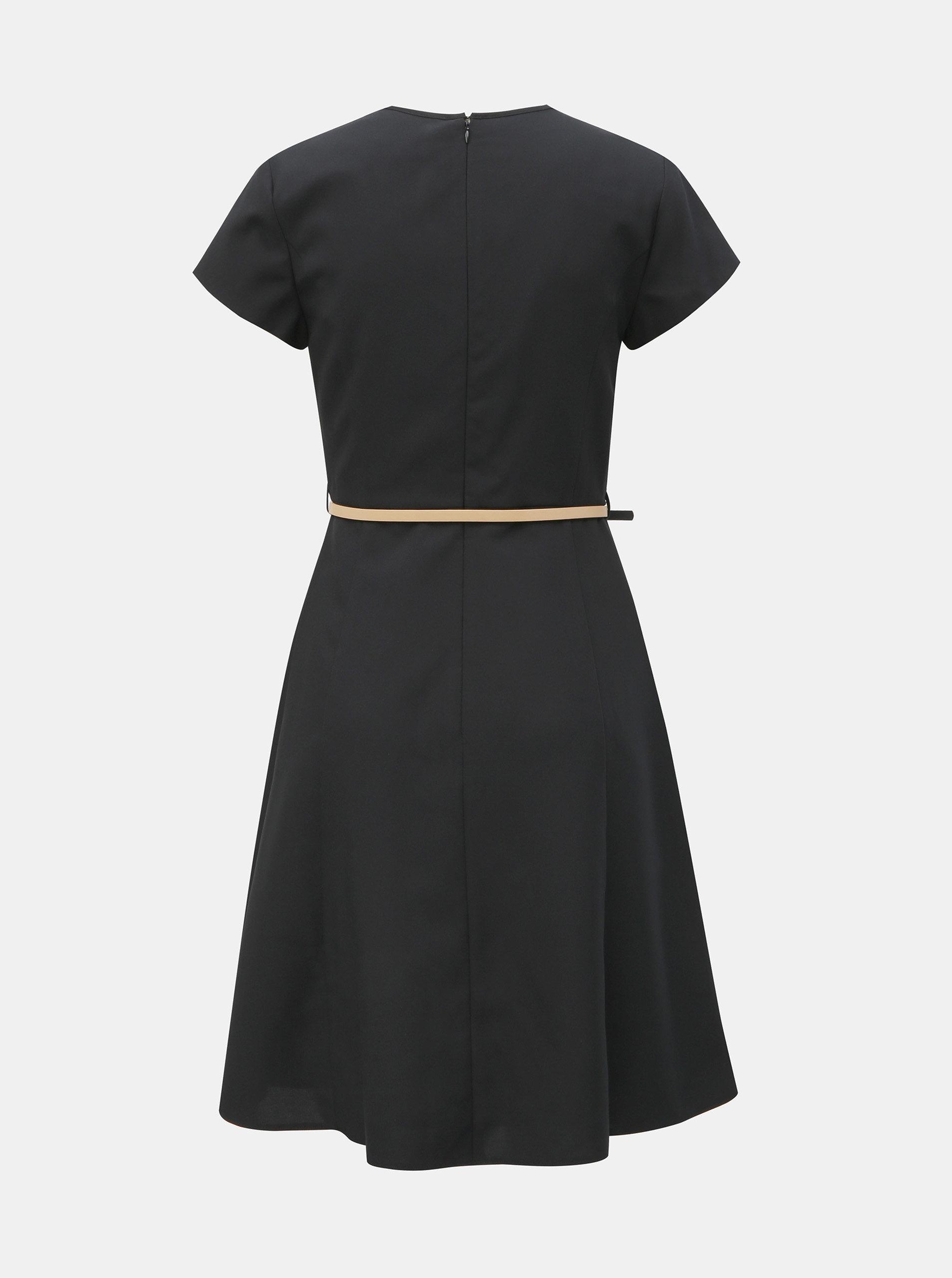 52613a48bb31 Čierne šaty s opaskom Dorothy Perkins ...
