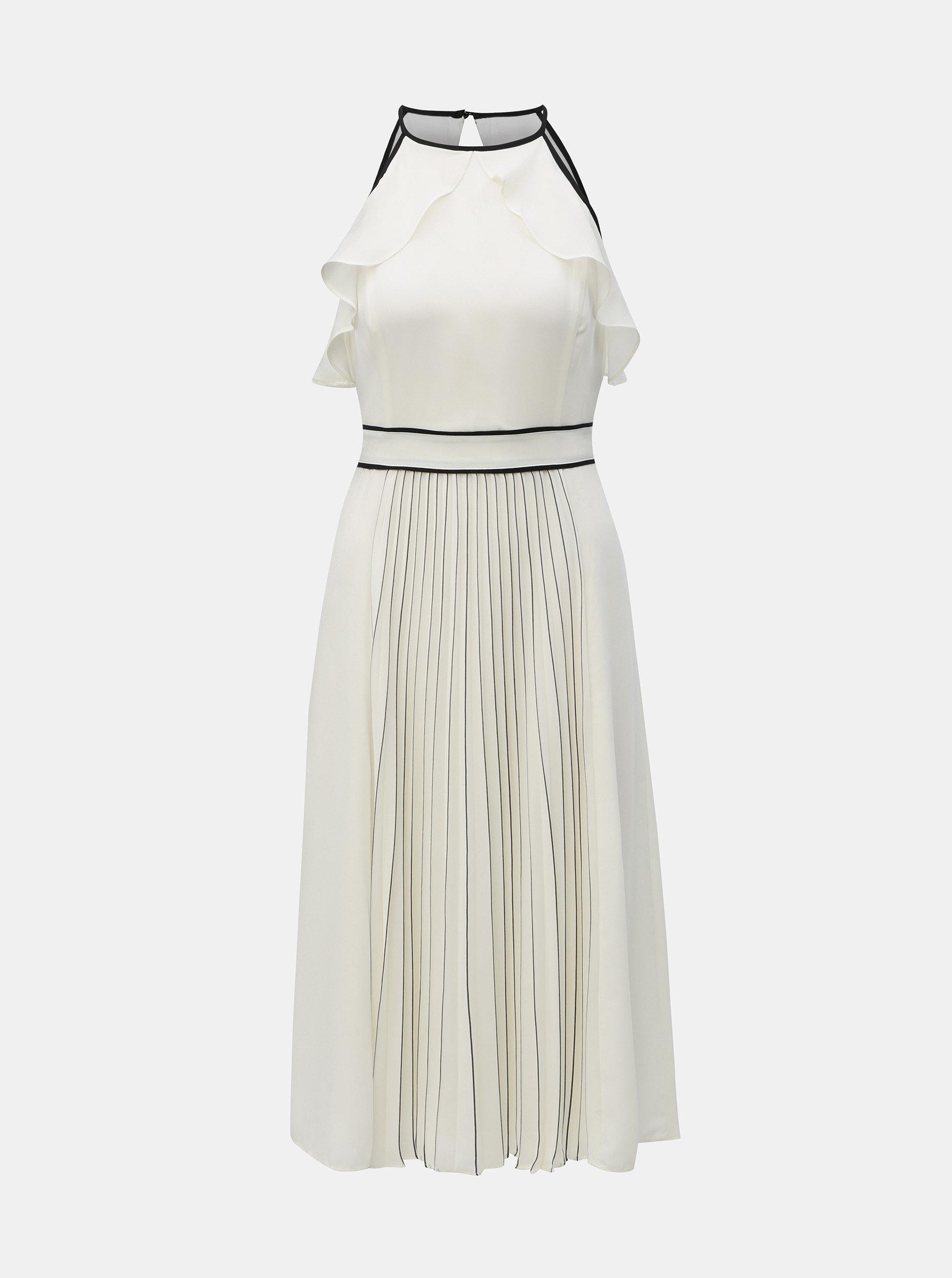 b5aeda3816fe Biele plisované šaty Dorothy Perkins ...