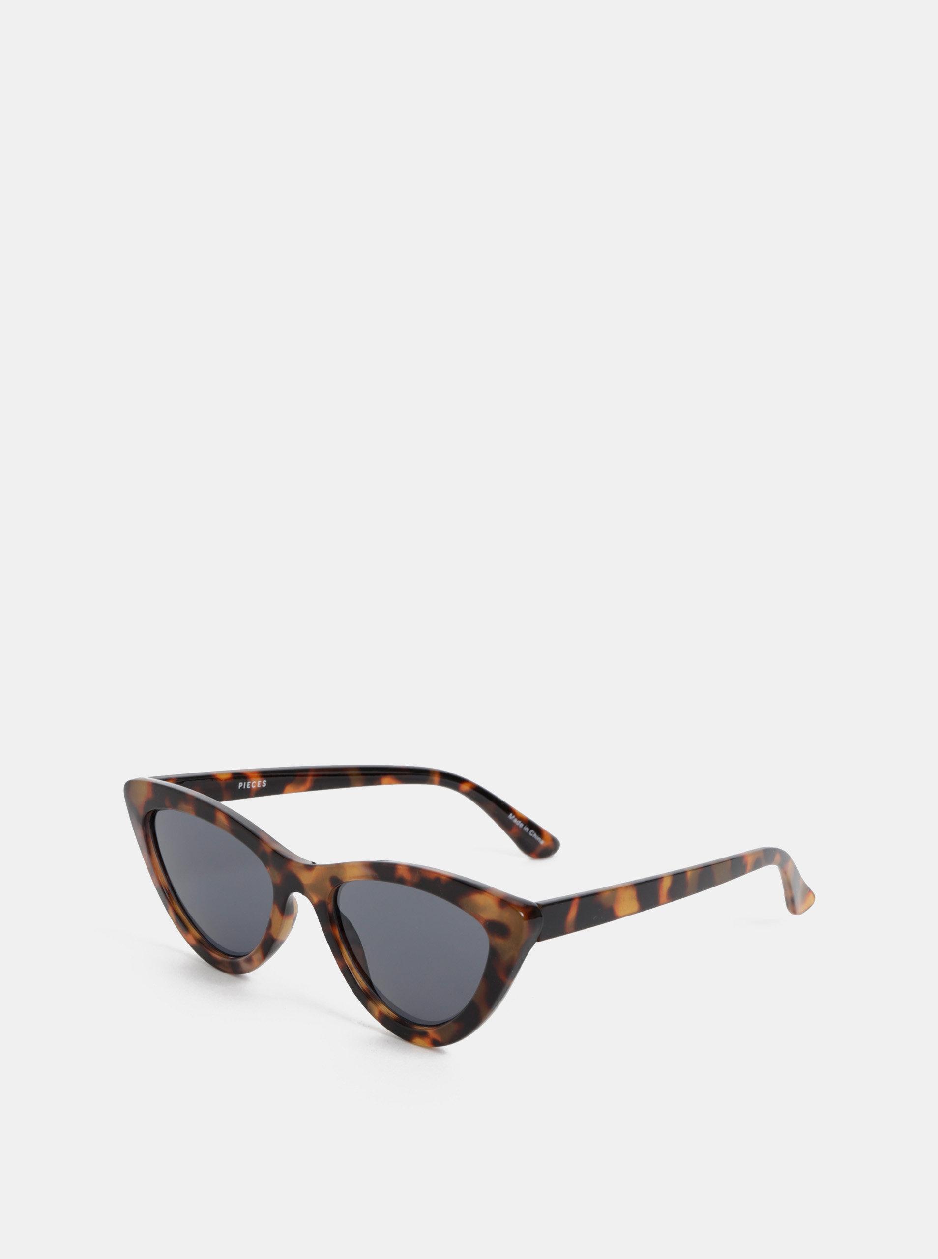 927da8d57 Hnedé vzorované slnečné okuliare Pieces Sally | ZOOT.sk