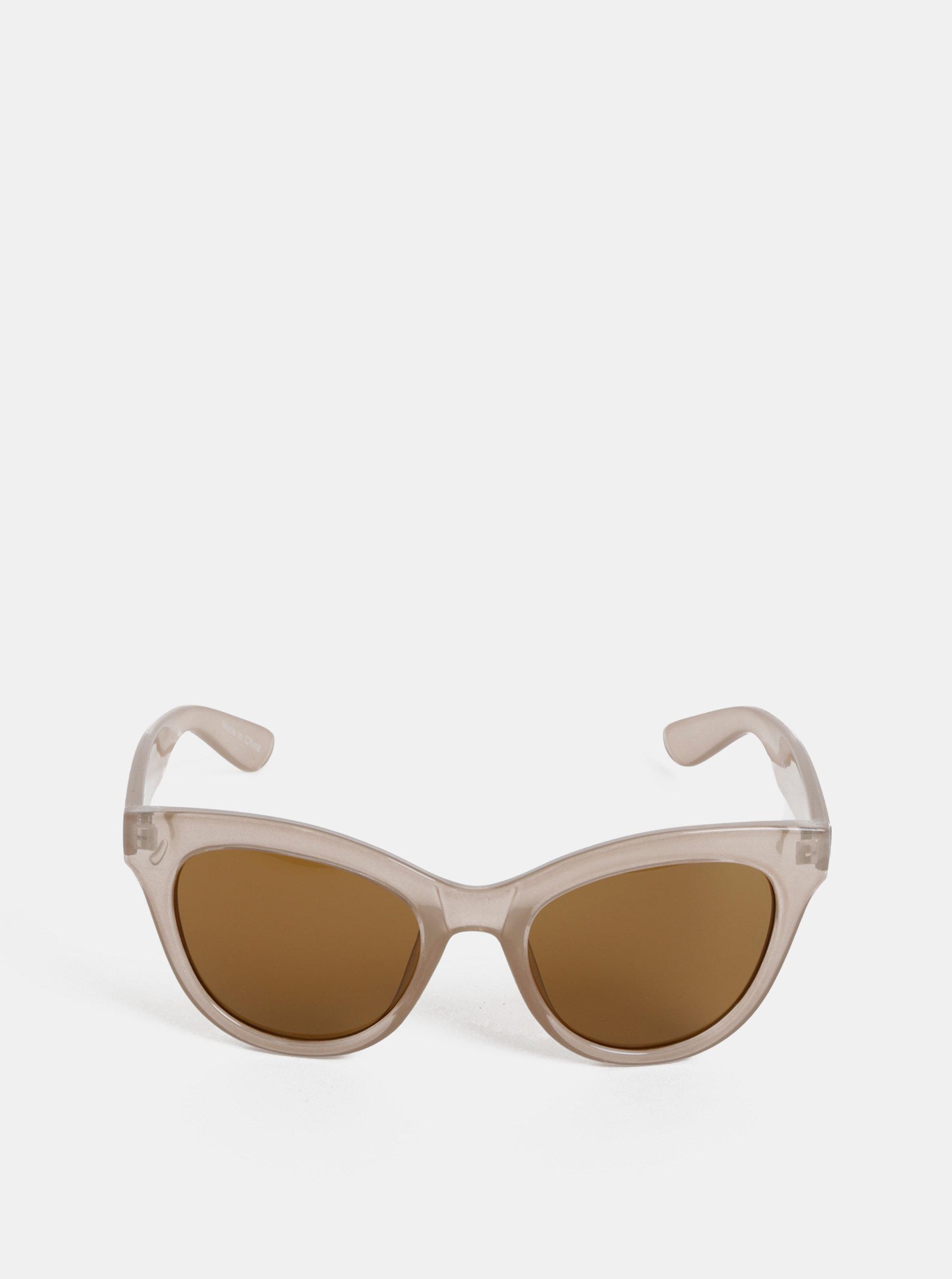 9202b8ece6 Béžové slnečné okuliare Pieces Sonja ...
