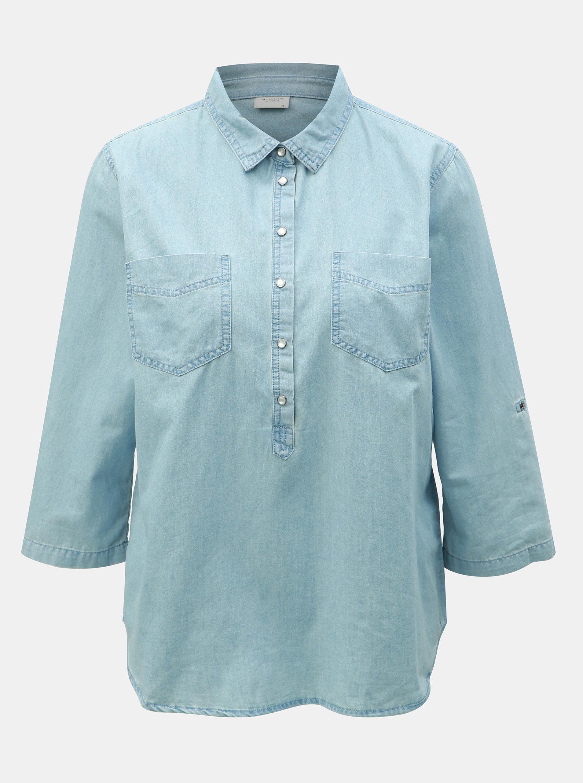 05cef88b7733 Modrá rifľová košeľa Jacqueline de Yong Shinest ...