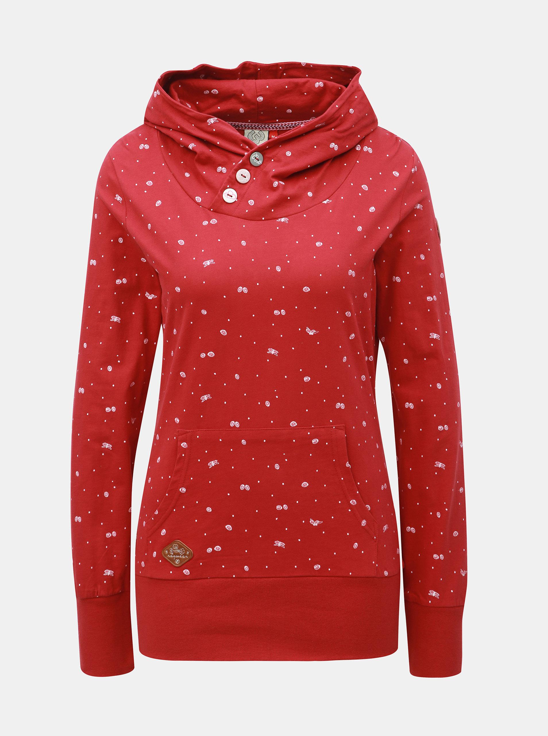 4134571a2ea2 Červená dámska vzorovaná mikina Ragwear Chelsea Bugs ...