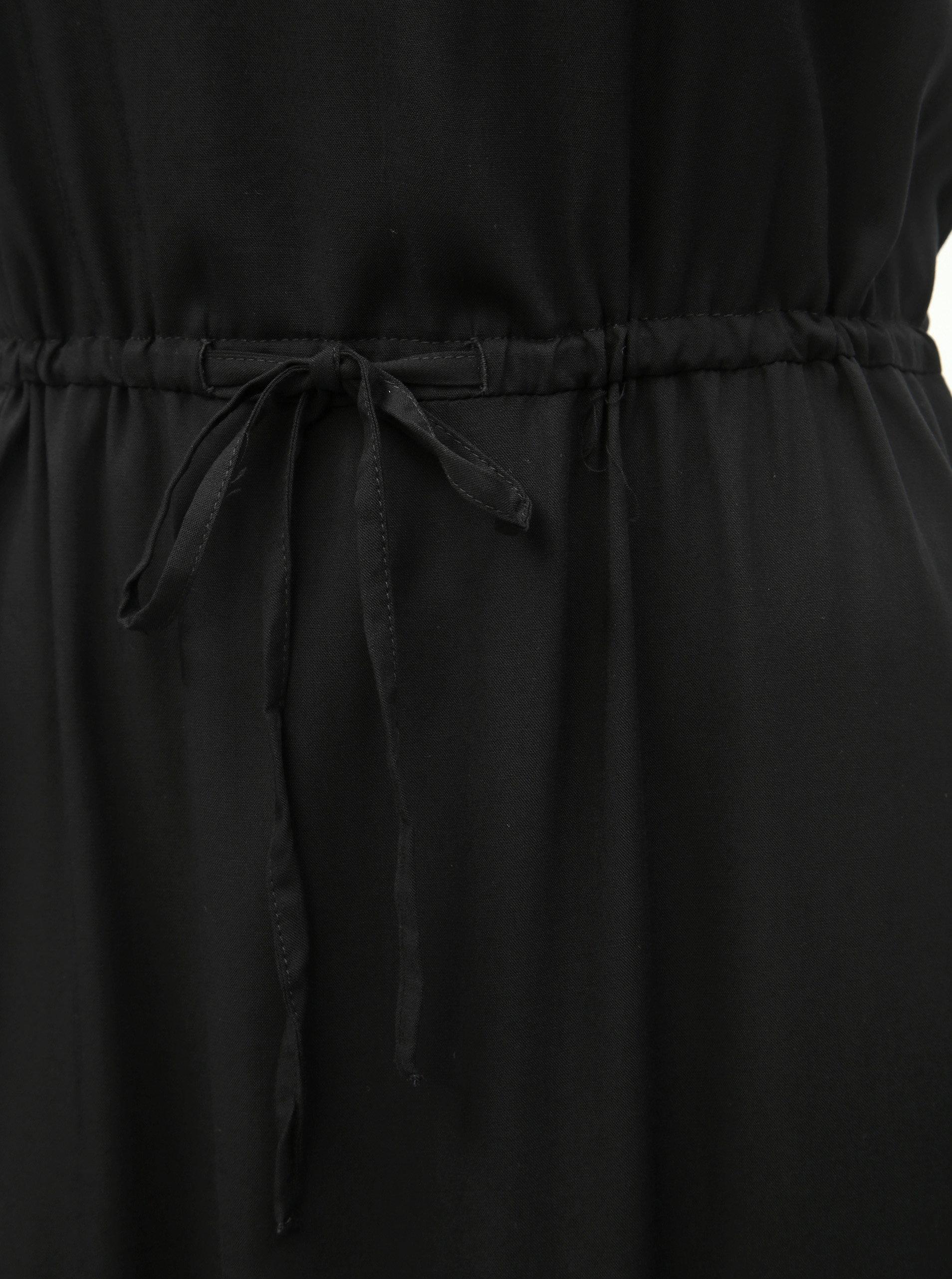 cf623328e6 Čierne maxišaty s rozparkom VERO MODA Simply