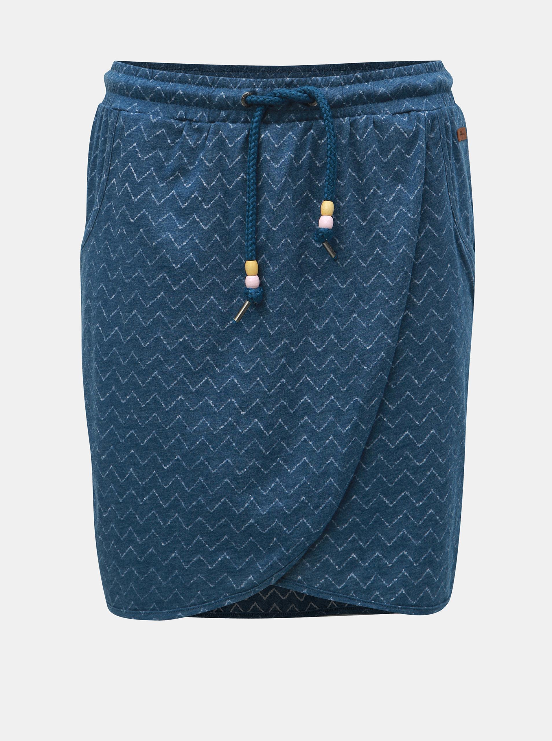 9b19500a0935 Modrá vzorovaná sukňa Ragwear Naila ...