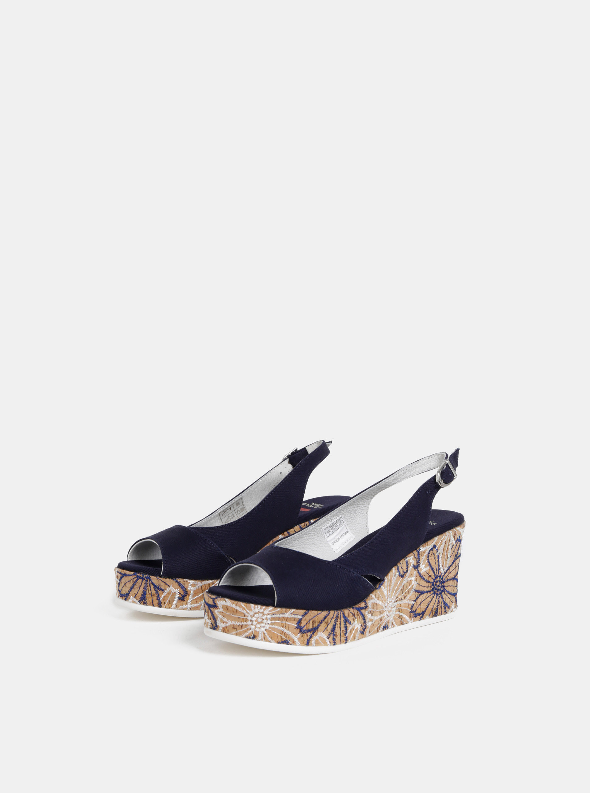 d6ee00356e28 Tmavomodré sandále na platforme U.S. Polo Assn. ...