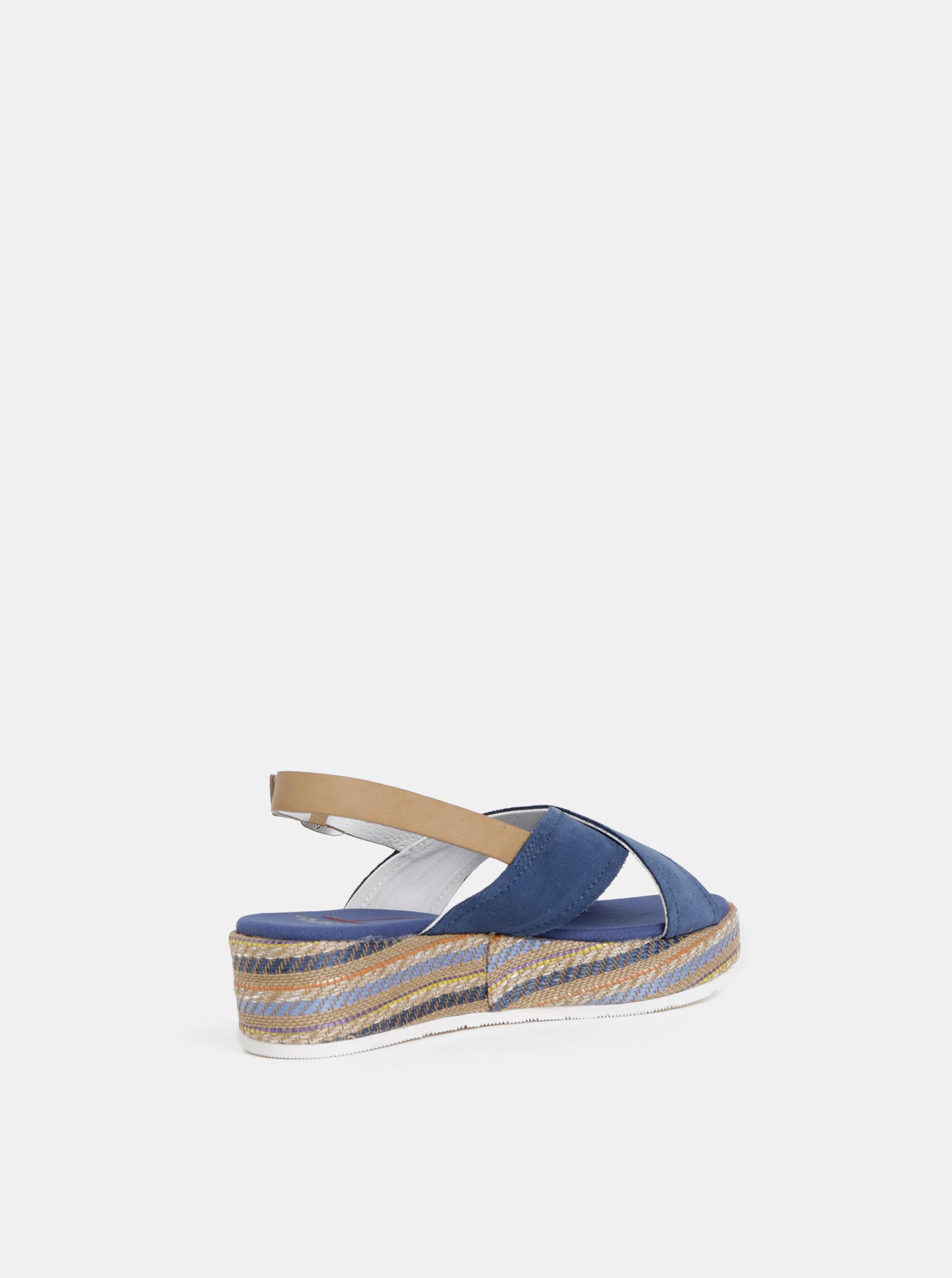 e52373d988a1 Modré dámske semišové sandále U.S. Polo Assn. ...
