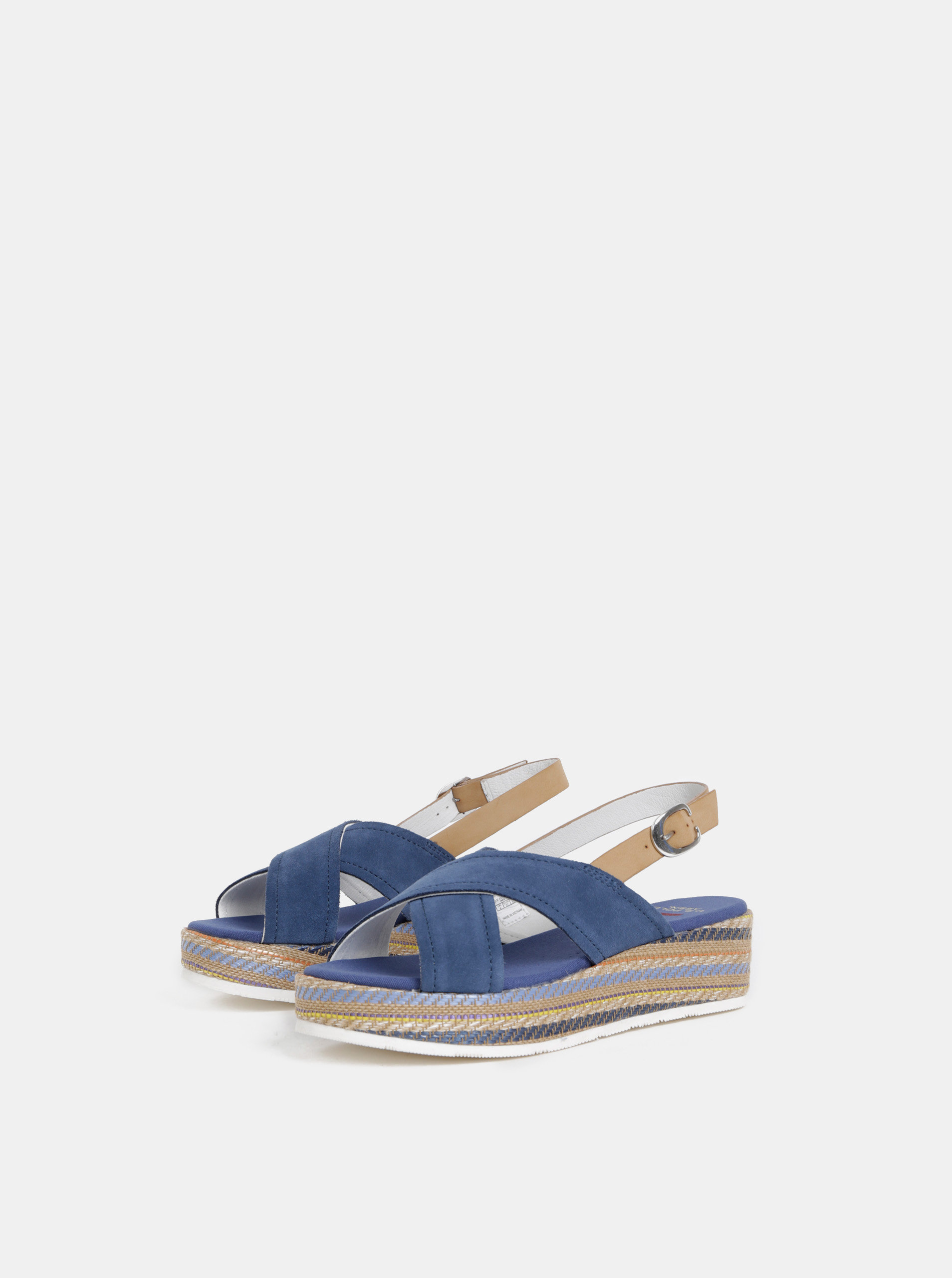 bf0e91328c9a Modré dámske semišové sandále U.S. Polo Assn. ...