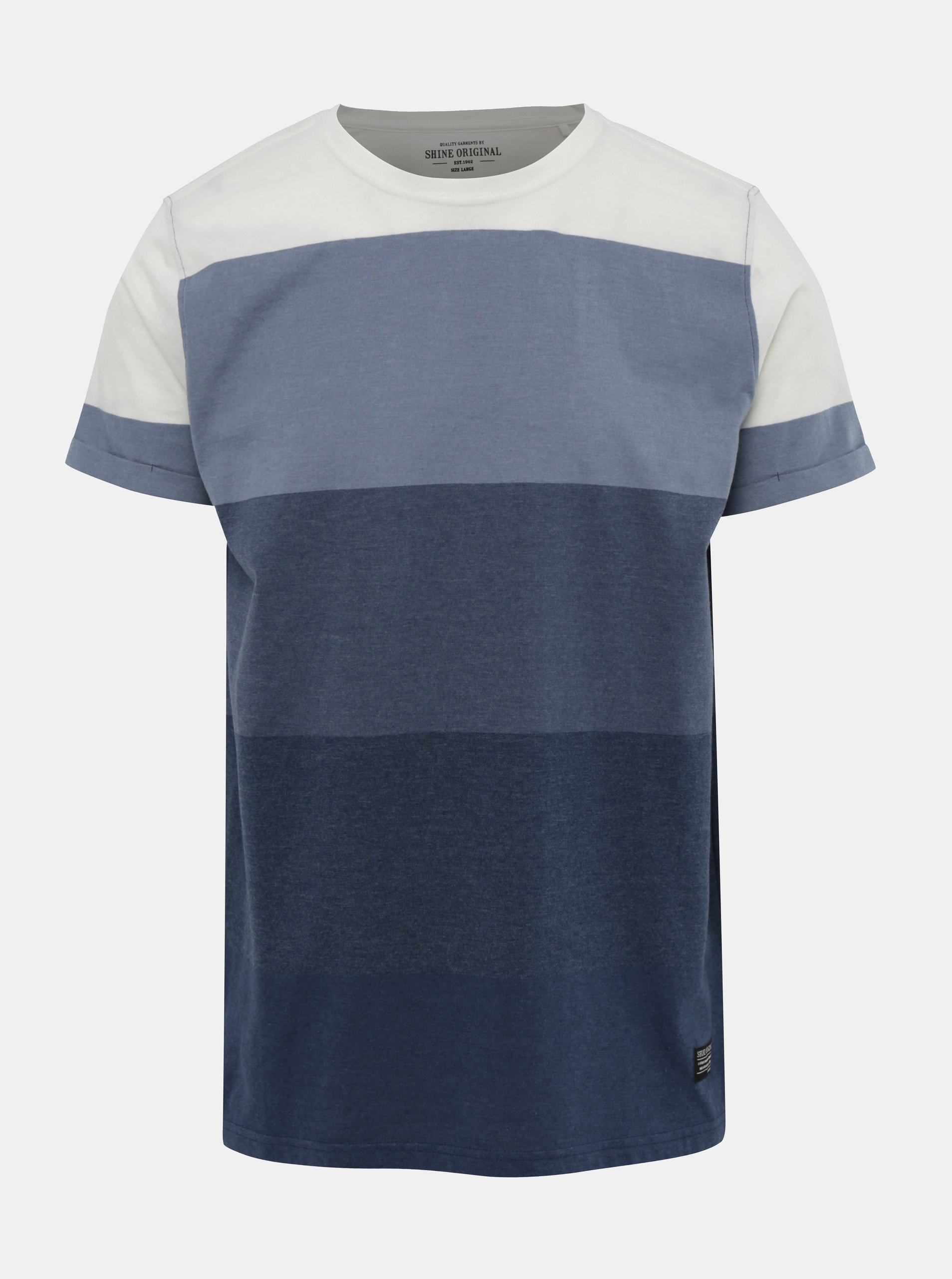 18484409e23f Modré pruhované tričko Shine Original ...