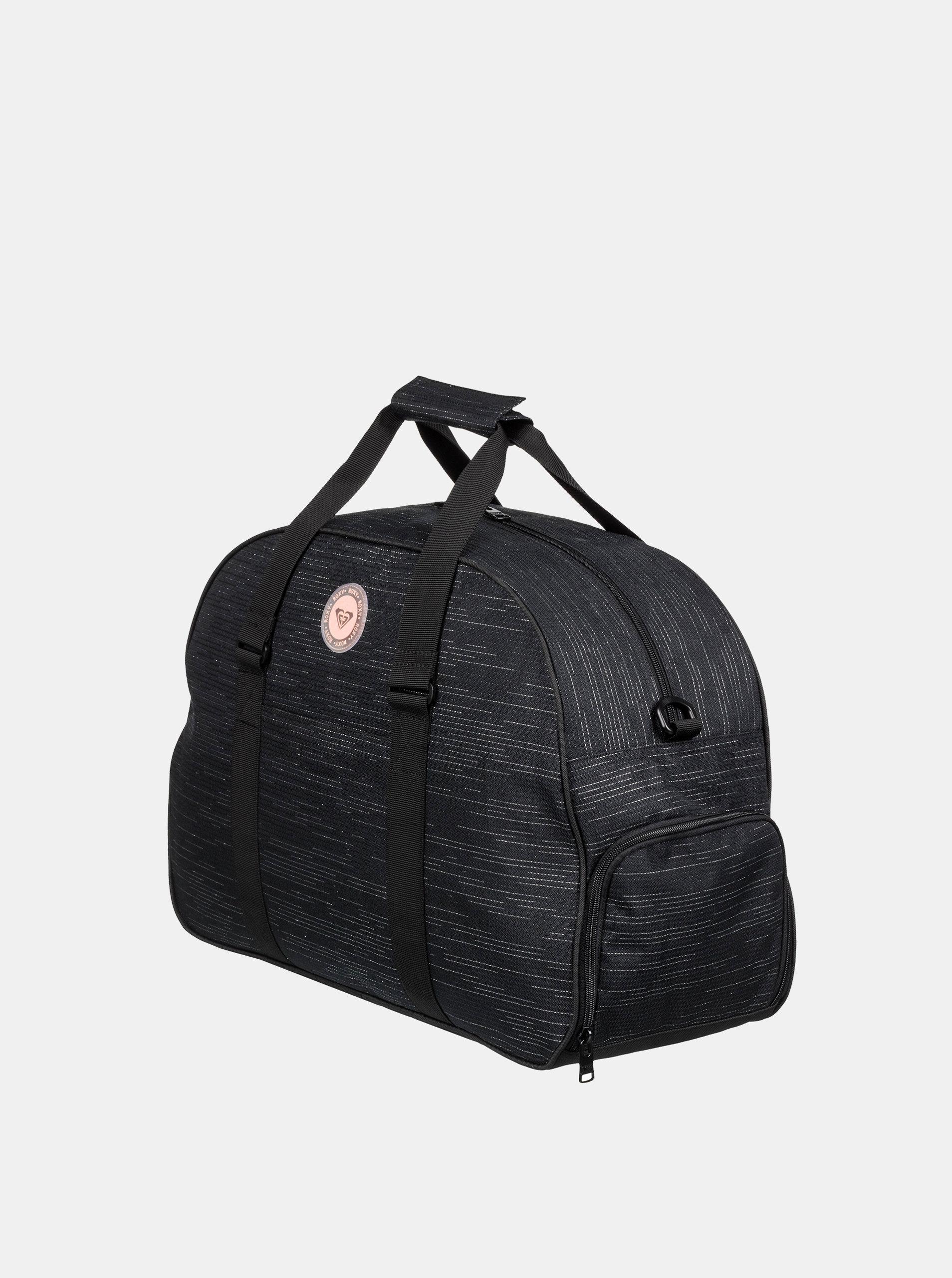 b7691241fb Černá žíhaná sportovní taška Roxy Feel Happy ...