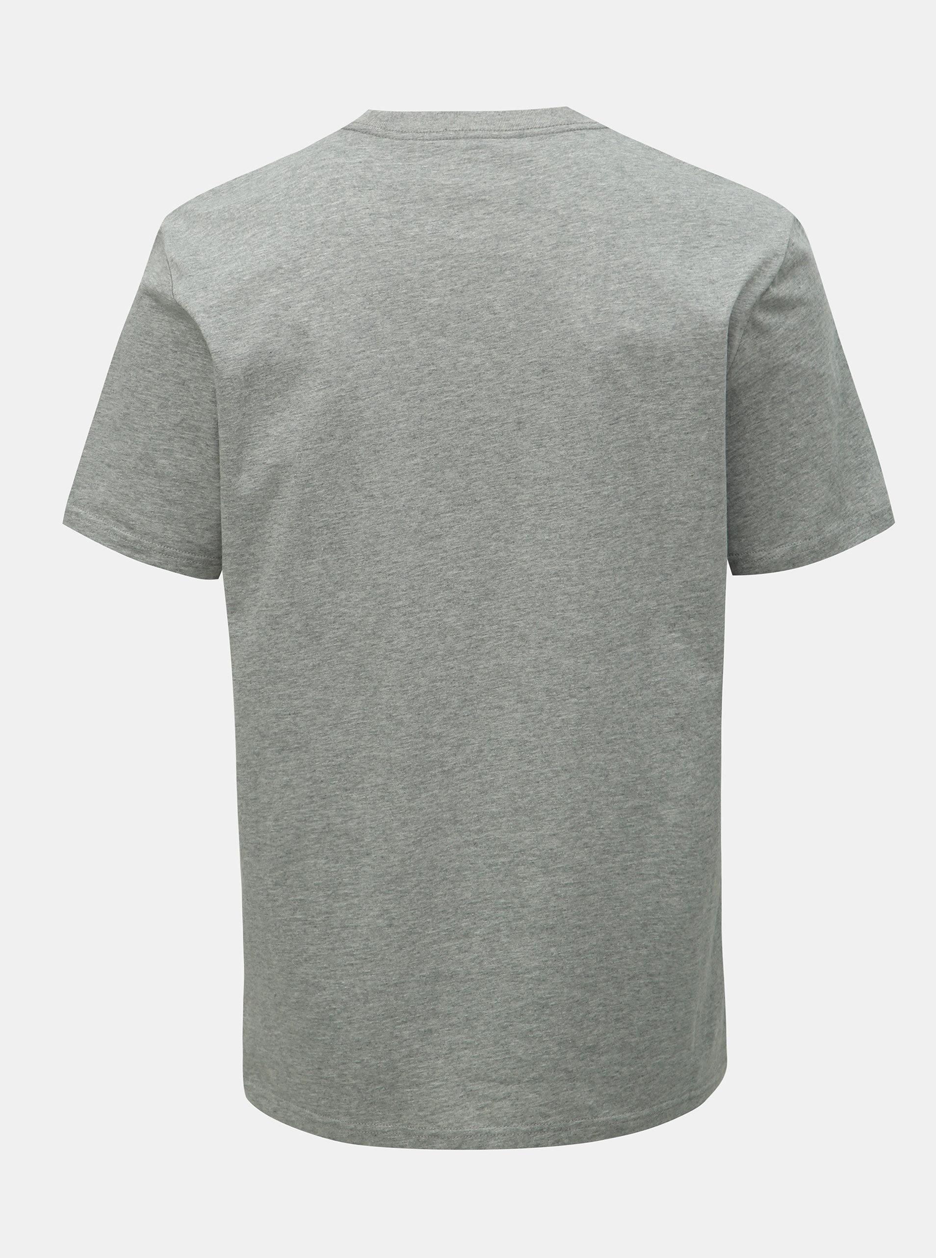 887b91bd6995 Sivé pánske tričko s potlačou Converse ...