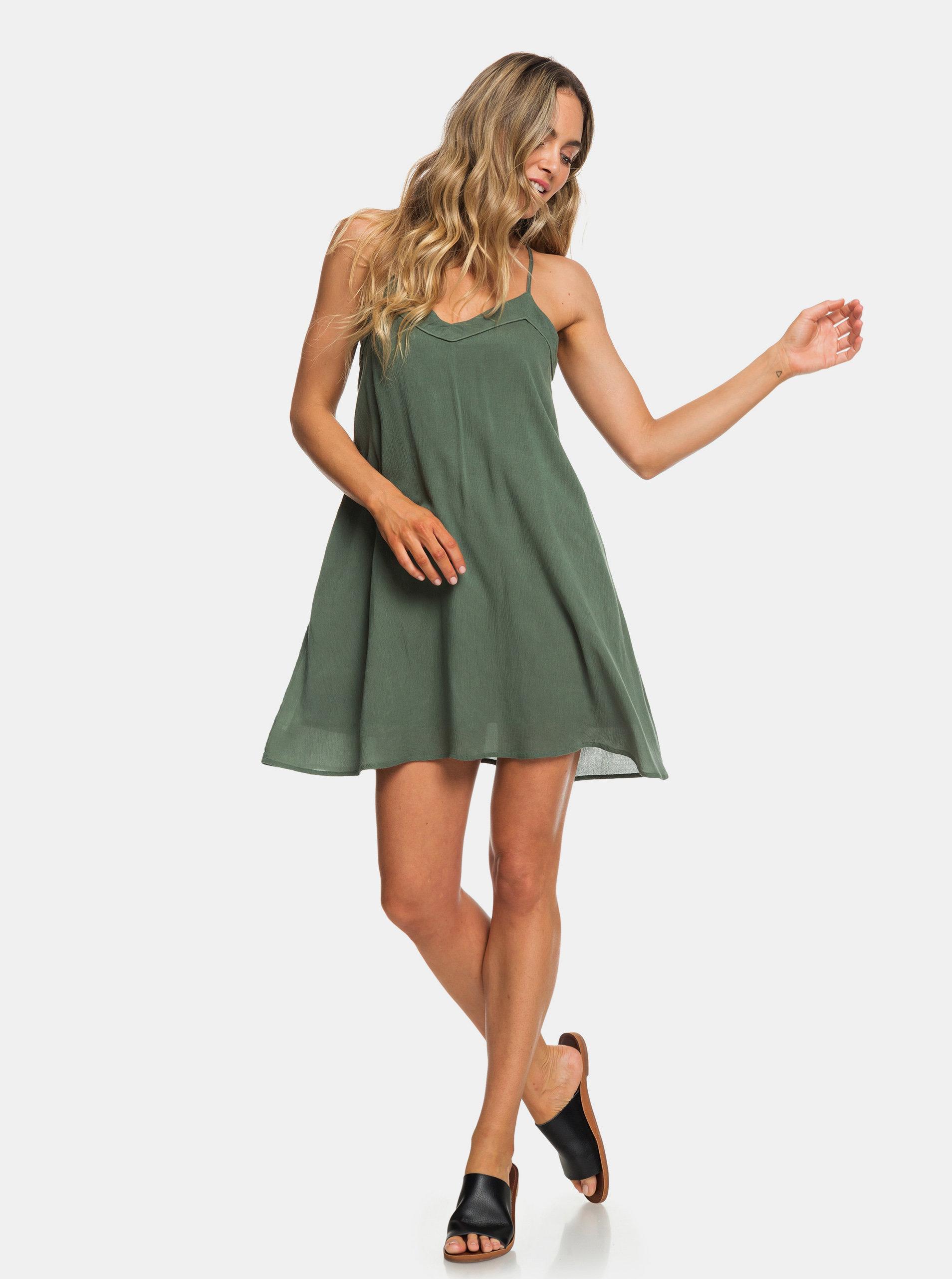 79cfedbd01 Zelené šaty Roxy Off We Go ...