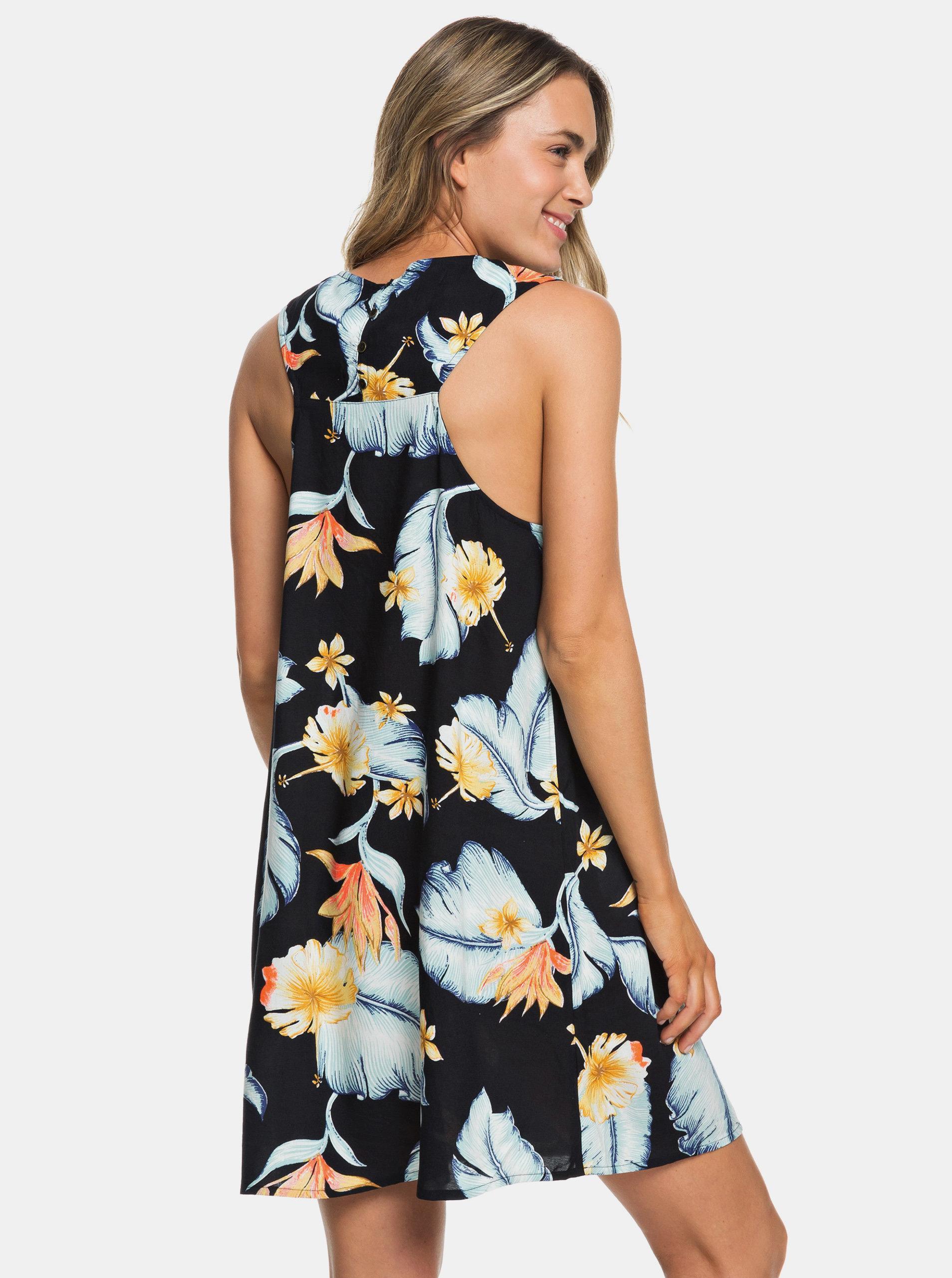 041ef99c15c5 Tmavě modré květované šaty Roxy Harlem Vibes ...
