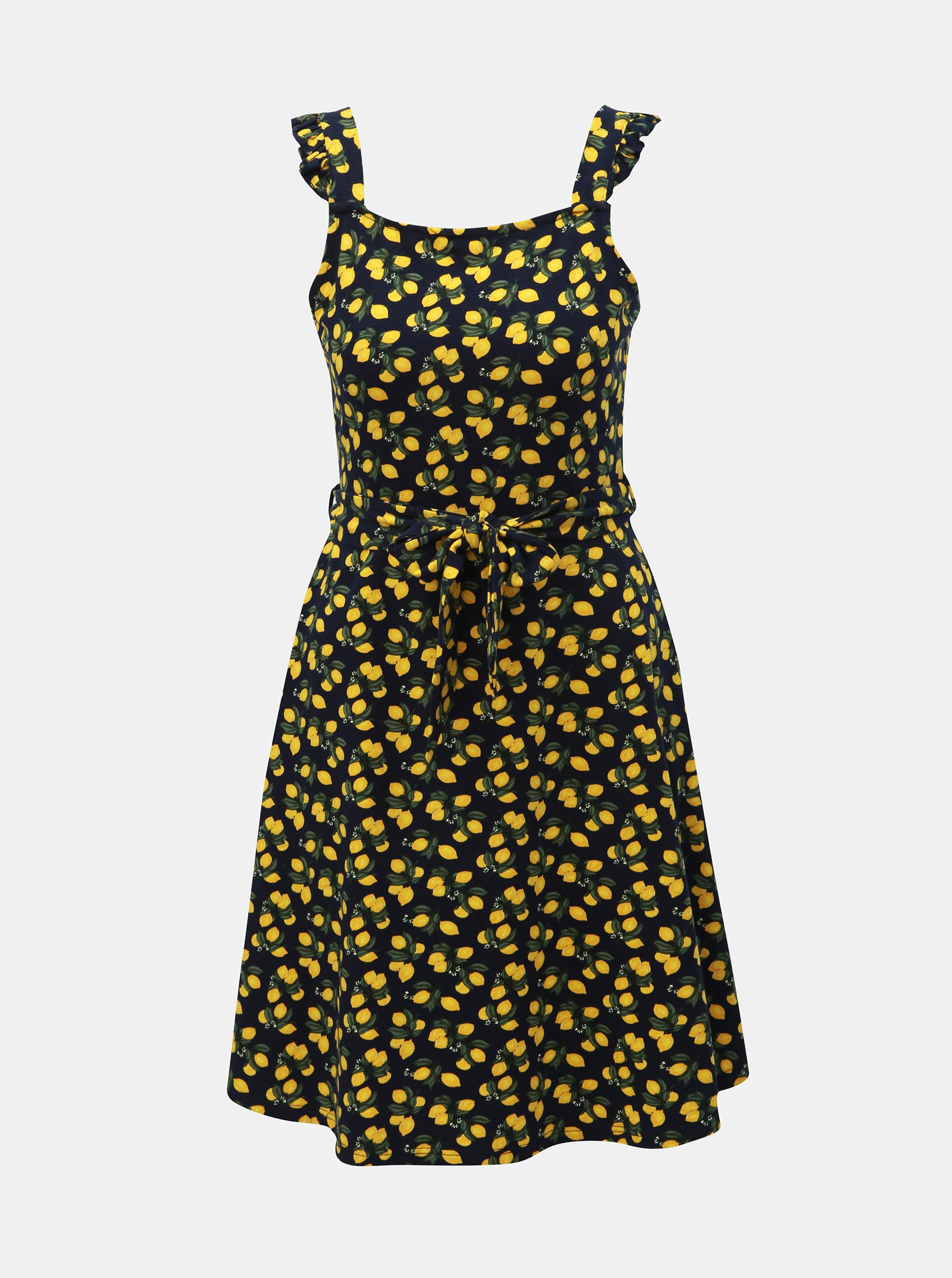 7d341b9114f3 Tmavomodré šaty s motívom citrónov Dorothy Perkins ...