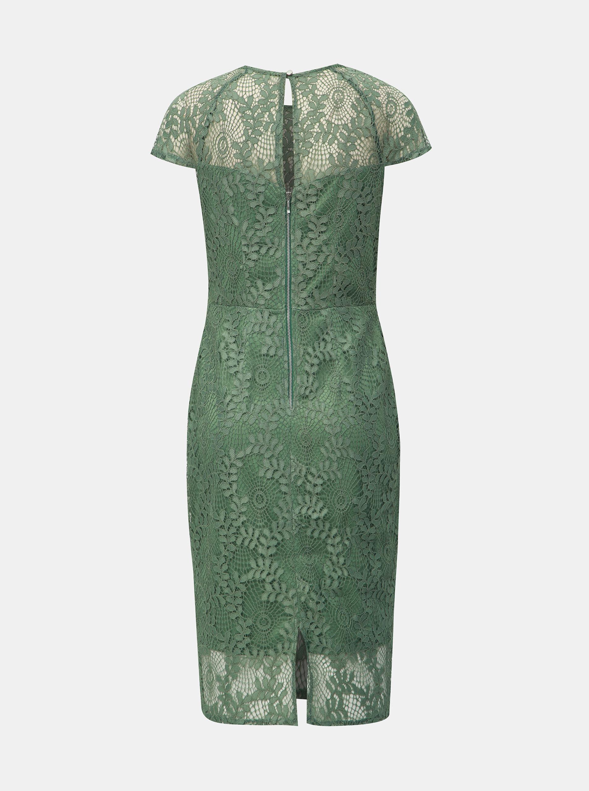 bb2280425371 Zelené krajkové pouzdrové šaty Dorothy Perkins ...
