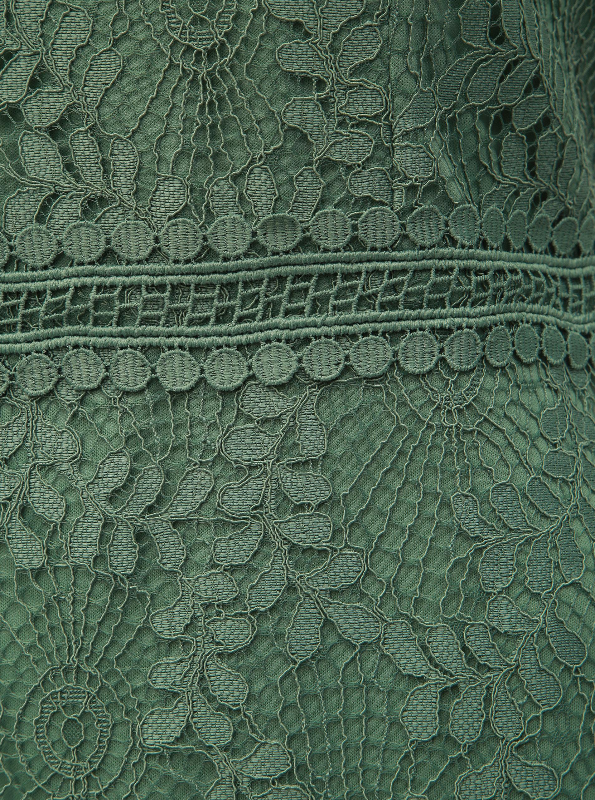 7c8c792da Zelené krajkové pouzdrové šaty Dorothy Perkins | ZOOT.cz