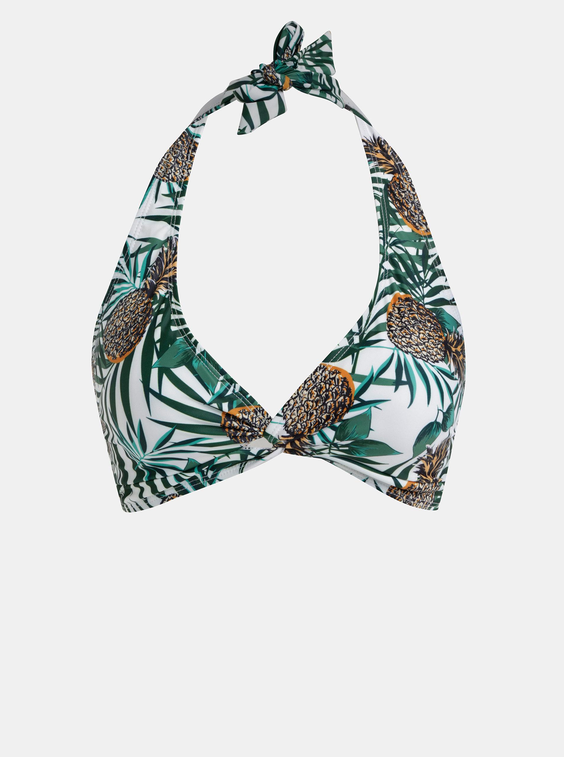 1cb697ac3 Zeleno–biely vzorovaný vrchný diel plaviek Dorothy Perkins   ZOOT.sk