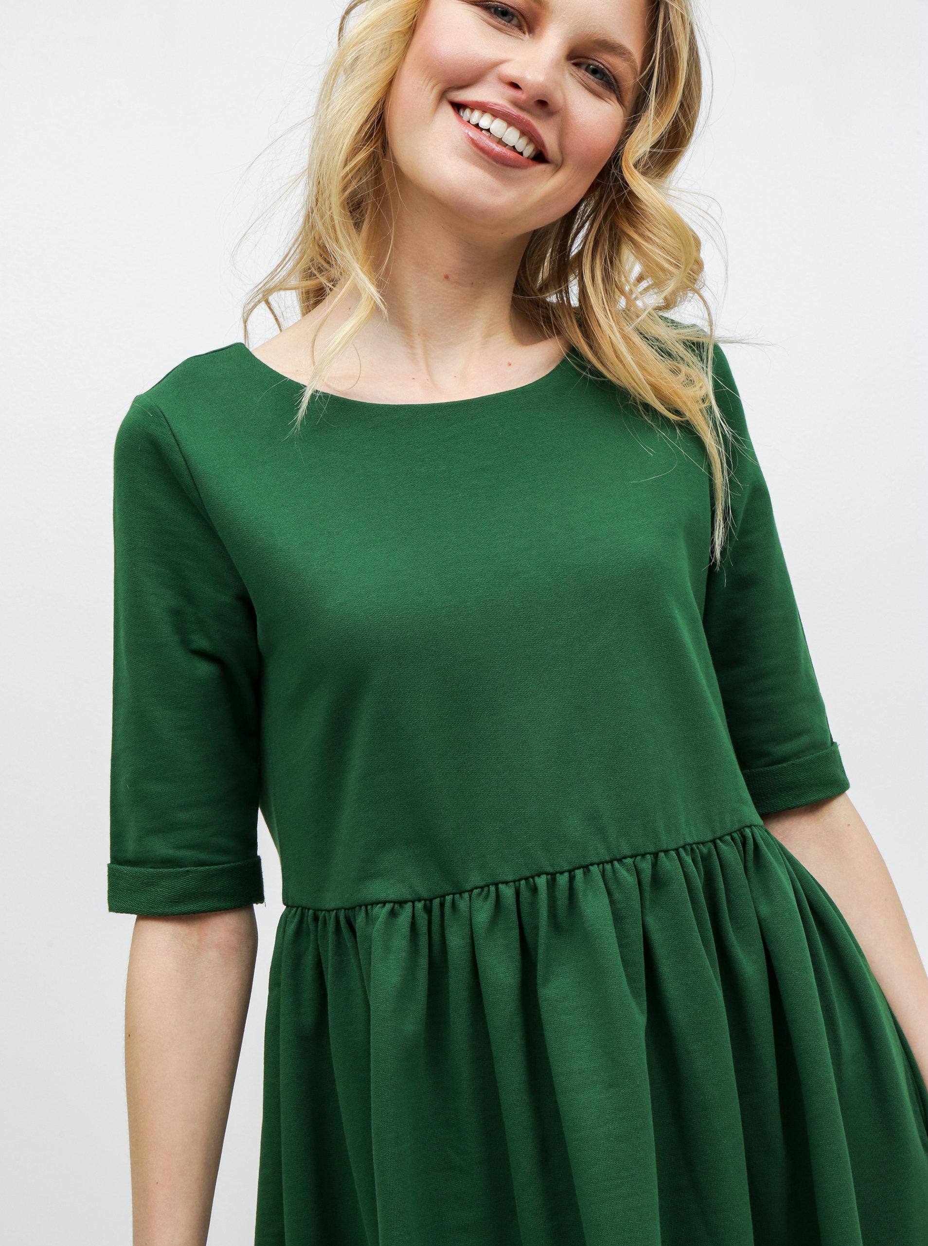 808e1a18bec4 Zelené volné šaty s kapsami ZOOT ...