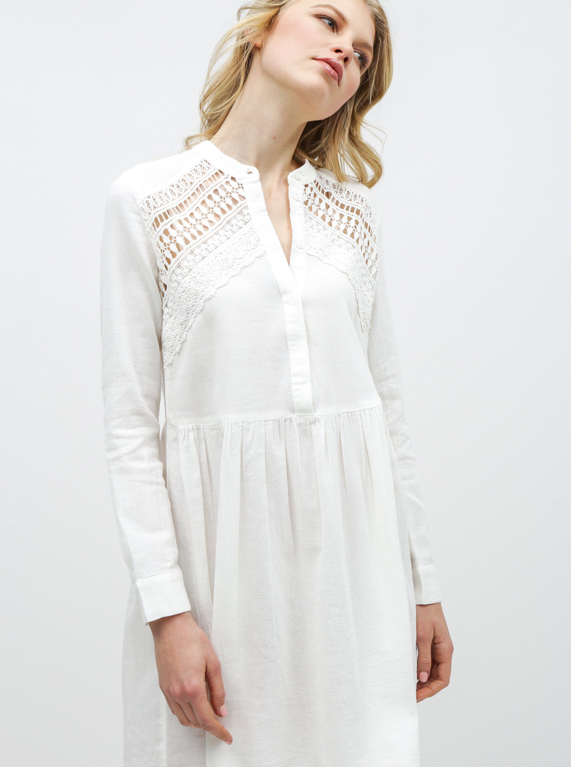 e59f8c95d9b2 Bílé šaty s krajkou Noisy May Arge ...