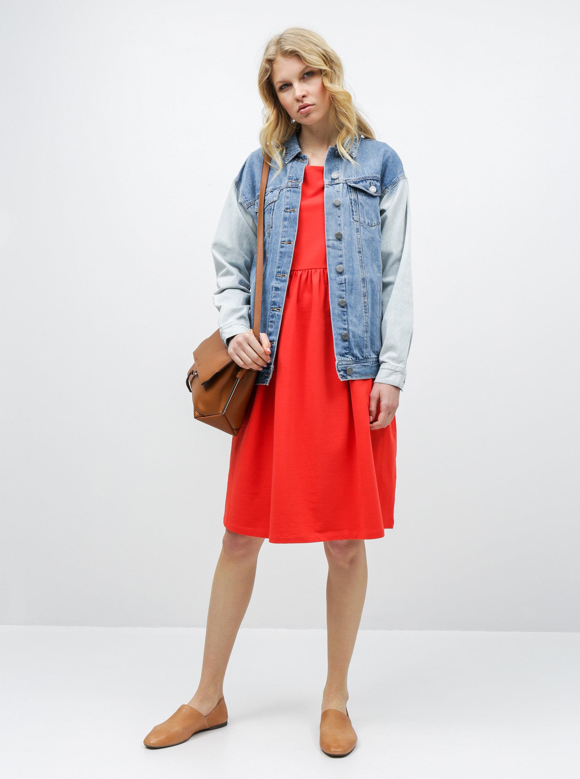 c331baf9e620 Červené voľné šaty s vreckami ZOOT ...