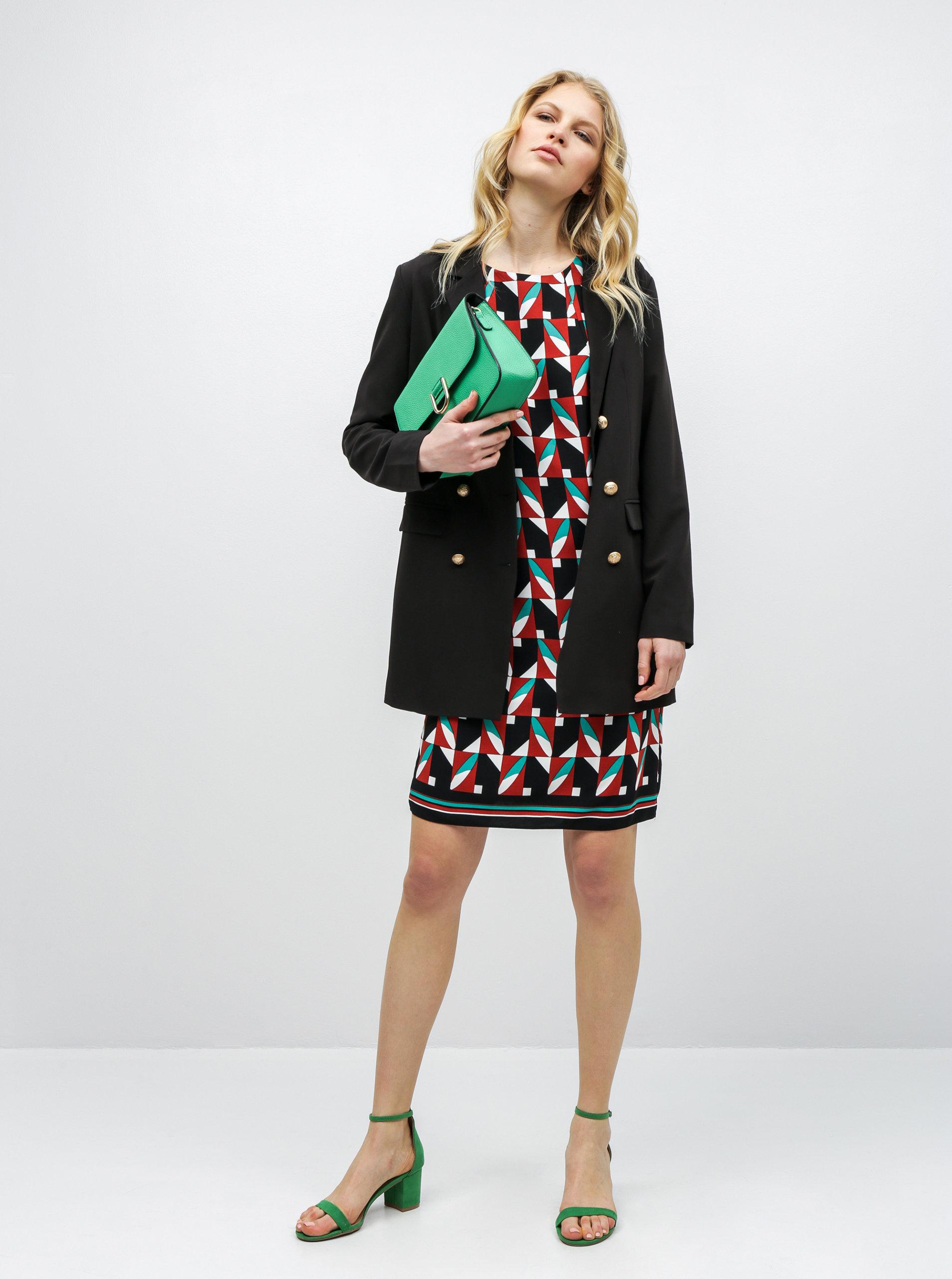 7236e1a12051 Zeleno–čierne vzorované šaty Dorothy Perkins Tall ...