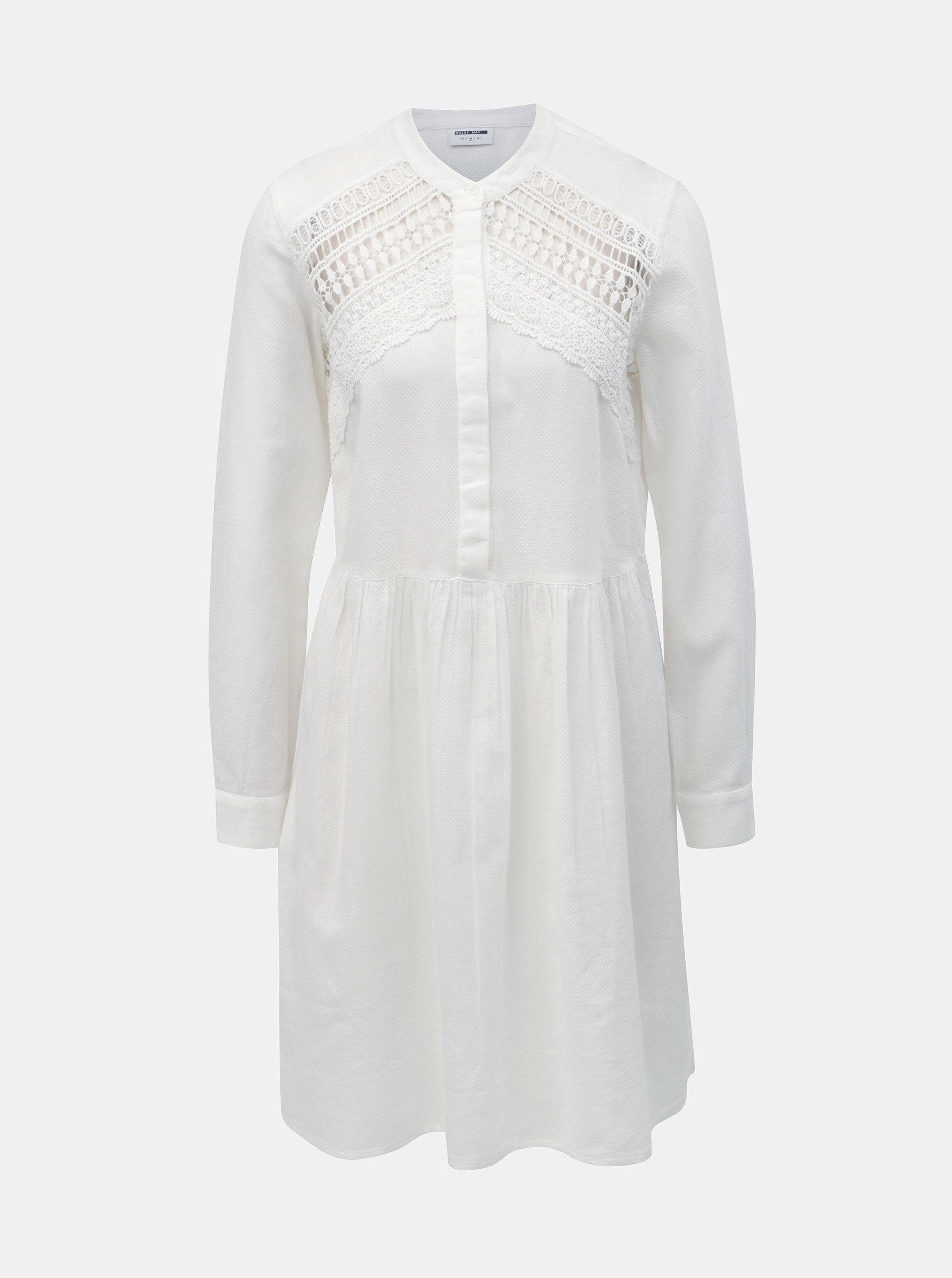 0e0f251aae7b Biele šaty s čipkou Noisy May Arge ...