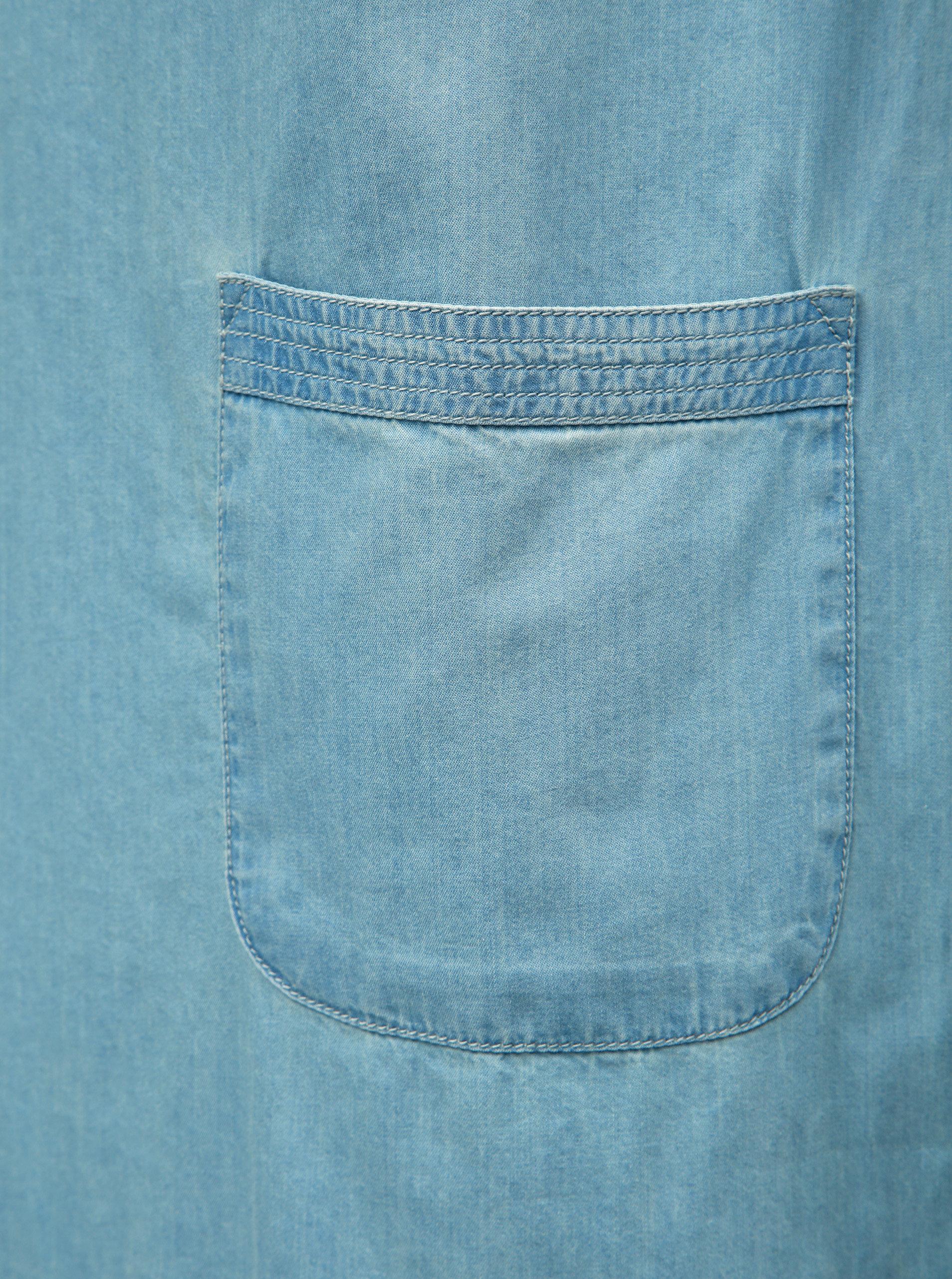 82272a45f Svetlomodré šaty s výšivkou a ozdobnými lemami Brakeburn ...