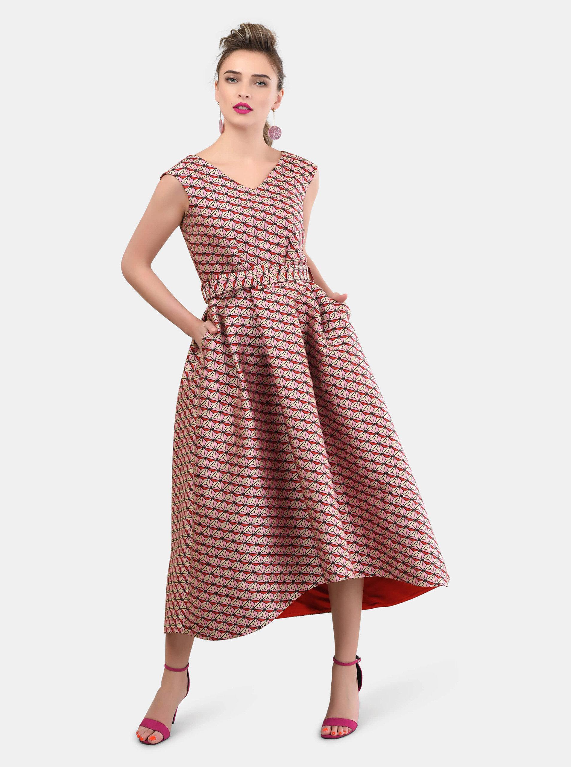 ca1beb7a7d95 Ružové vzorované šaty Closet ...