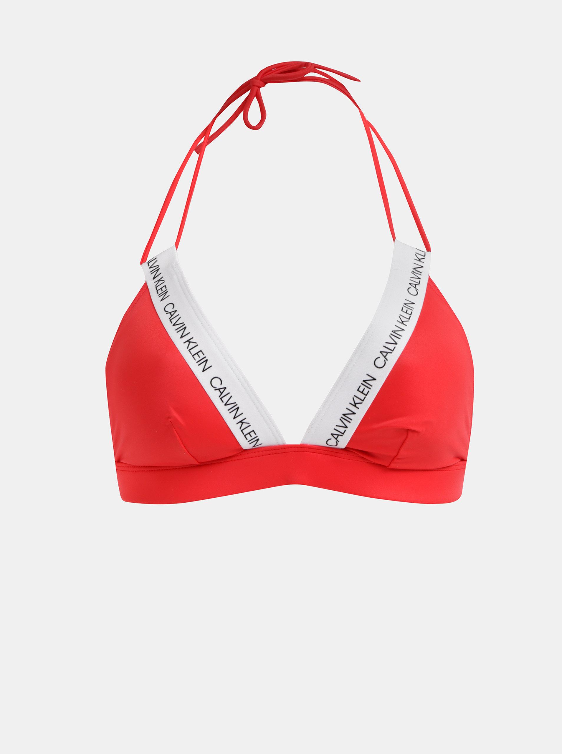 fa068081dc Červený dámsky vrchný diel plaviek Calvin Klein Underwear ...