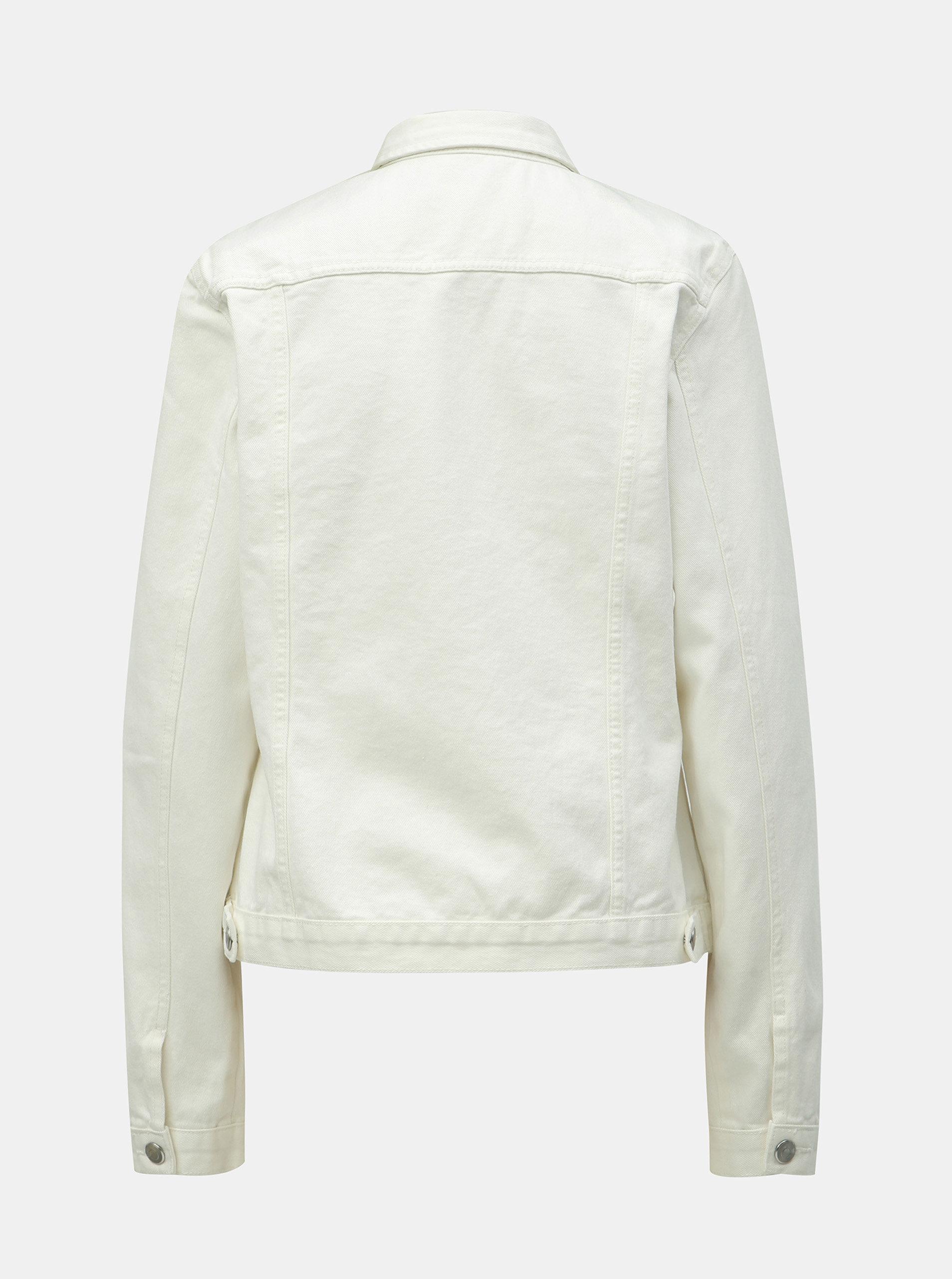 6db0652695cd Biela rifľová bunda Dorothy Perkins Tall ...