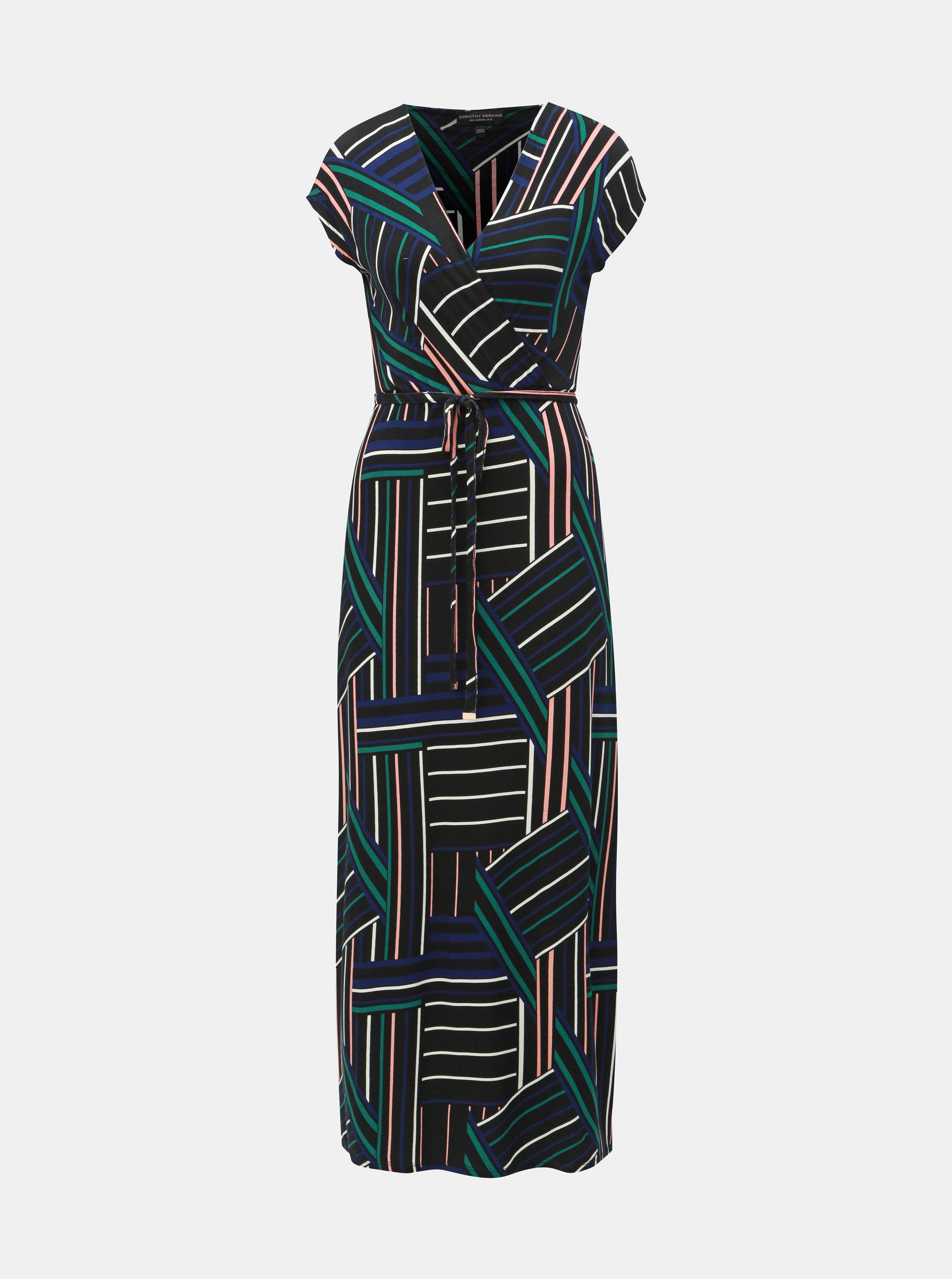 8ddb28b23503 Černé vzorované maxišaty Dorothy Perkins ...