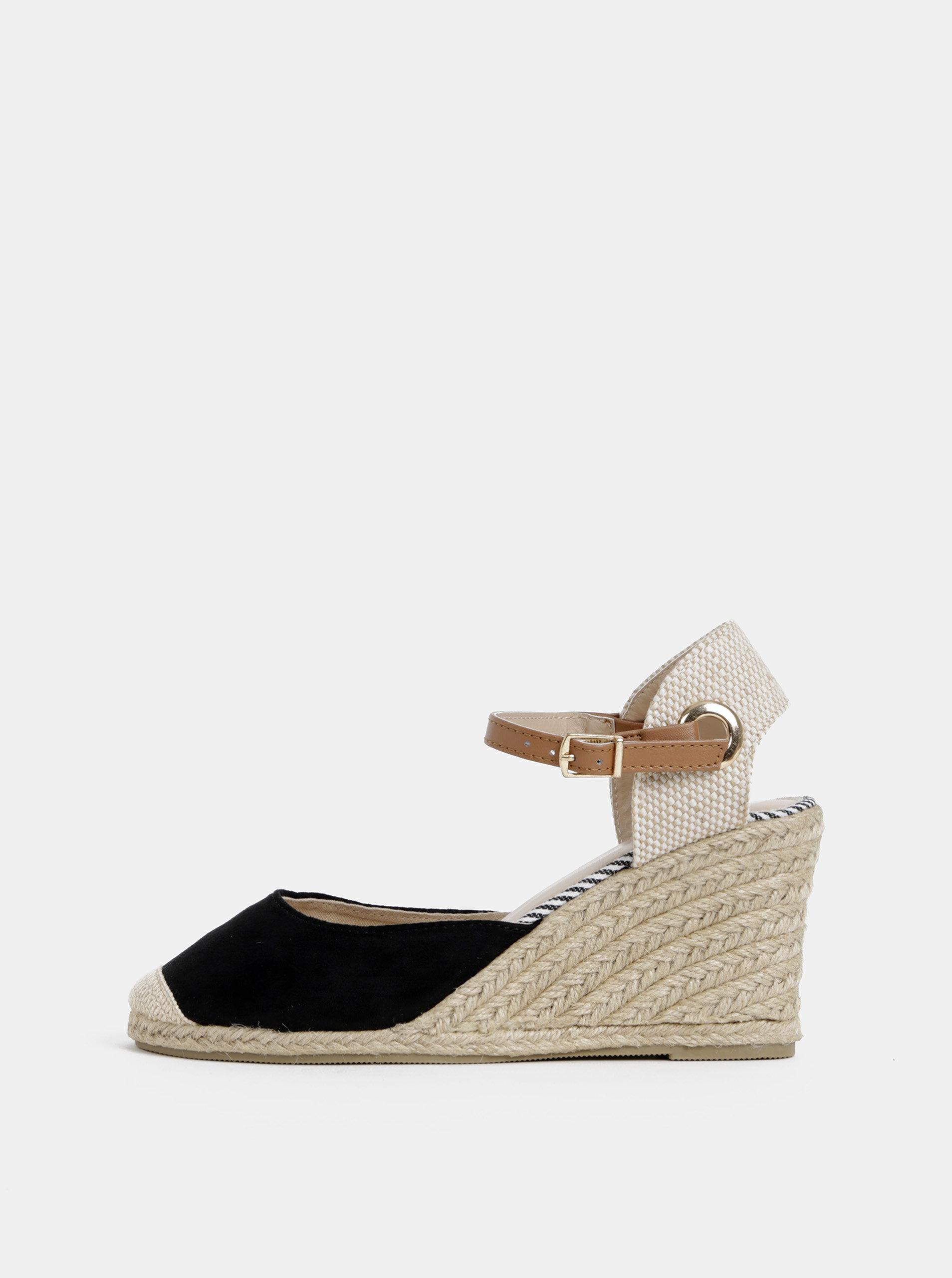 d4bff8c51fed Čierne sandále na plnom podpätku Dorothy Perkins ...