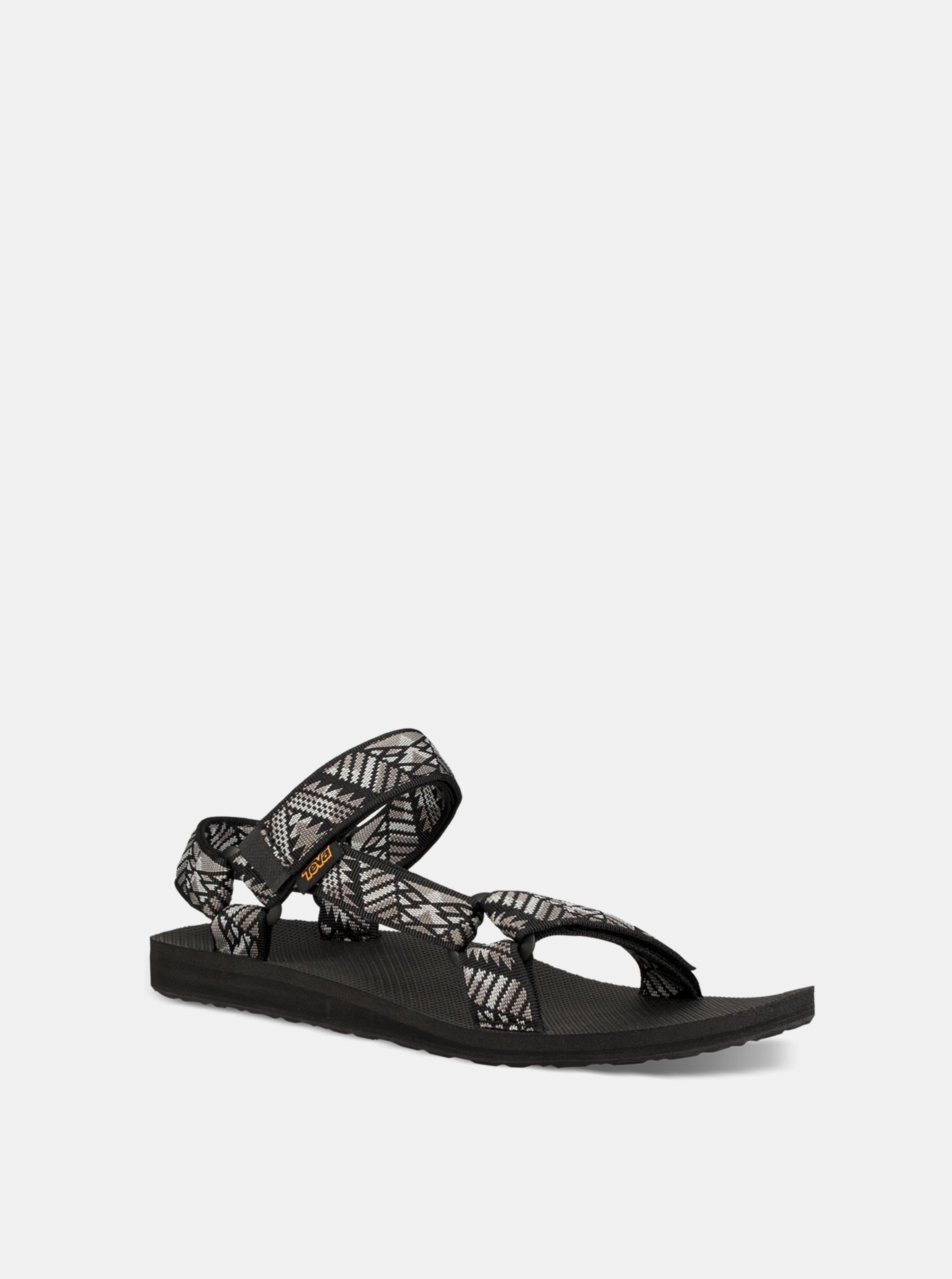 e93ff68b2 Sivo–čierne pánske vzorované sandále Teva | ZOOT.sk