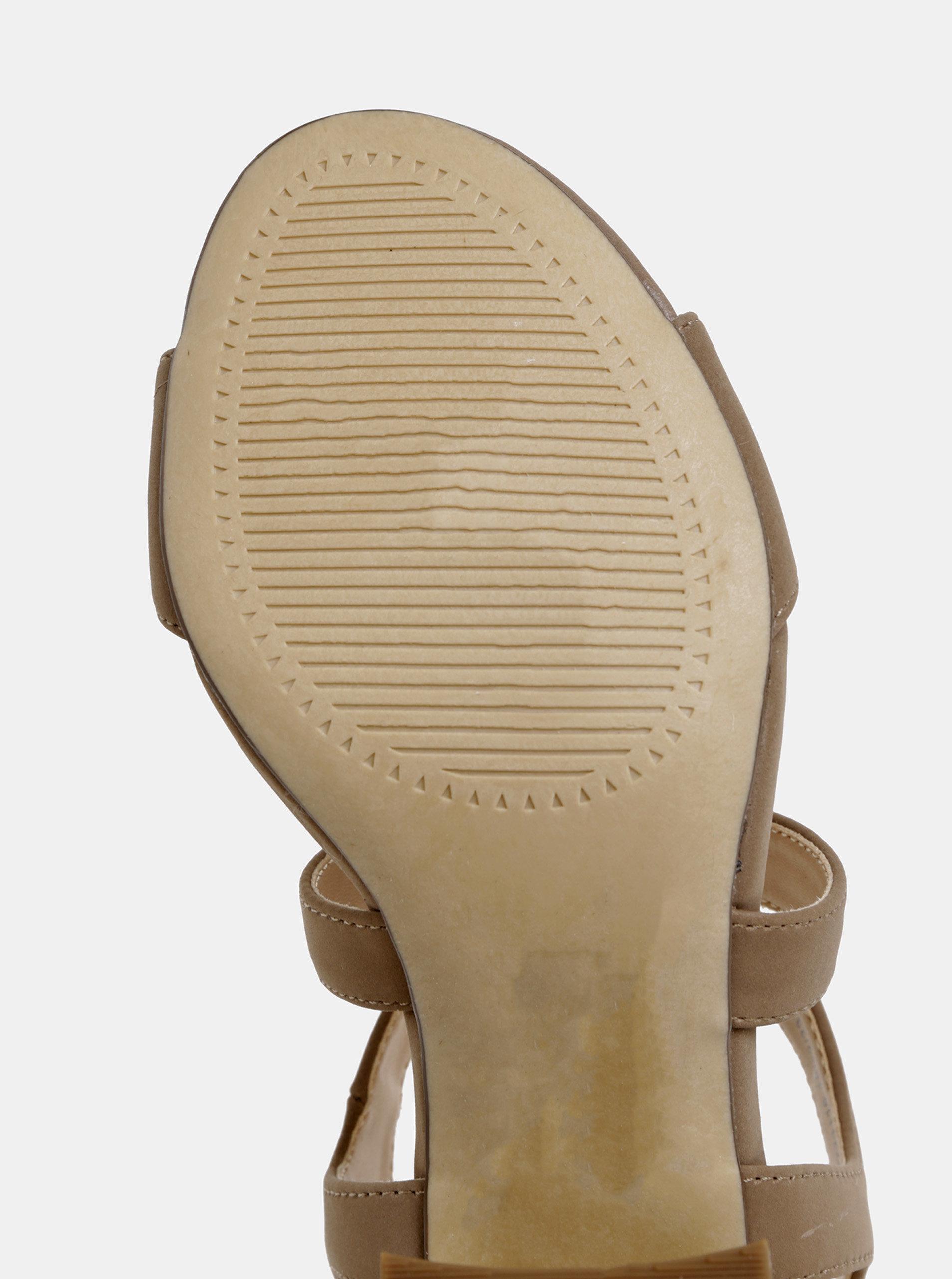 7e099bdfdb4f Hnedé sandále na podpätku Dorothy Perkins ...