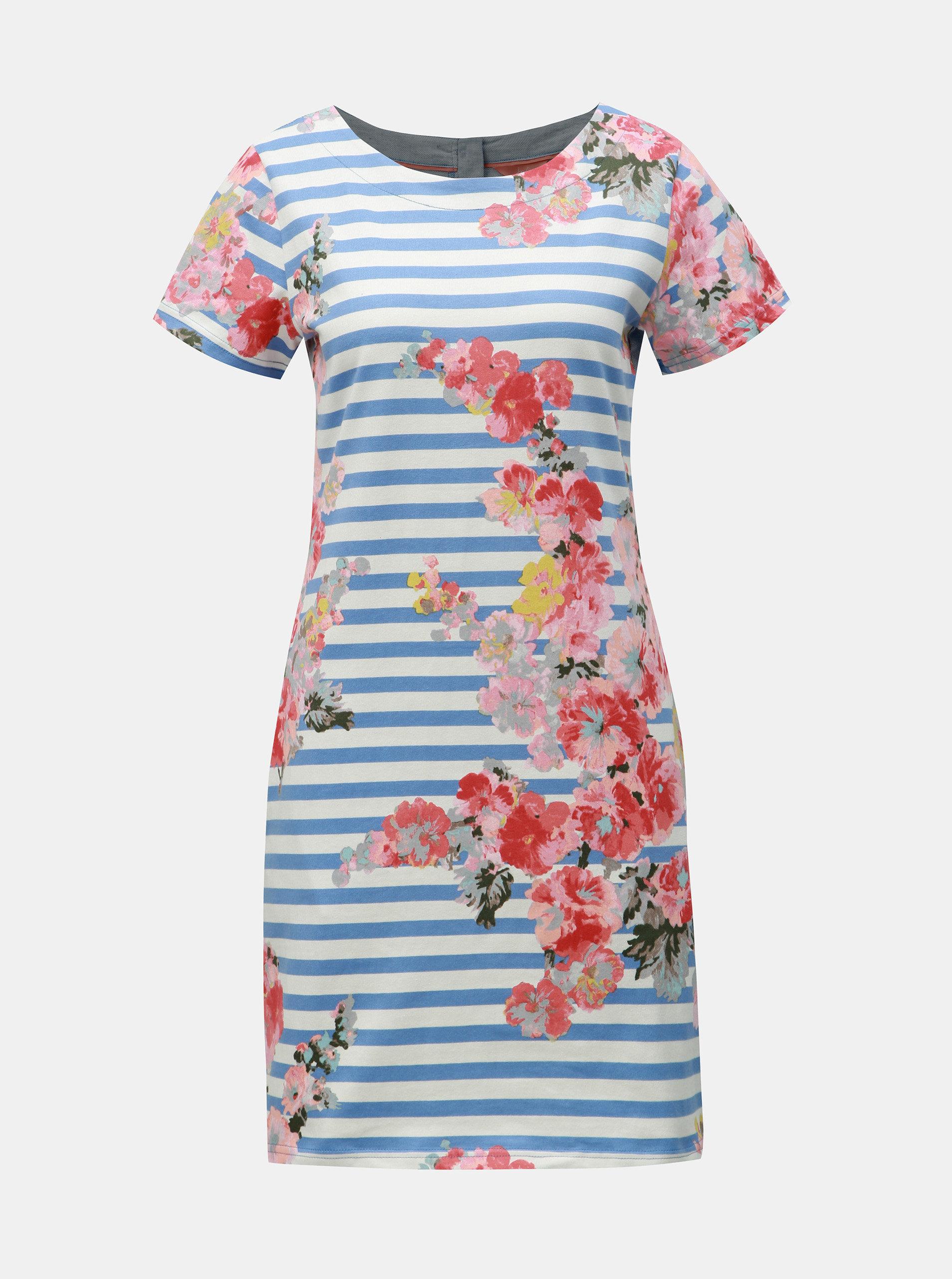 9a9d1c3ef62d Bielo–modré kvetované šaty s prímesou ľanu Tom Joule Ottie ...