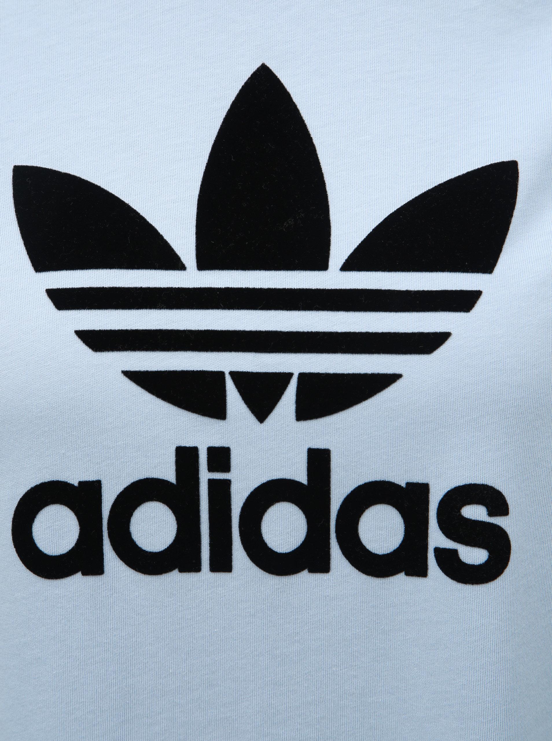 db81a0229 Svetlomodré šaty s potlačou adidas Originals Periwi | ZOOT.sk