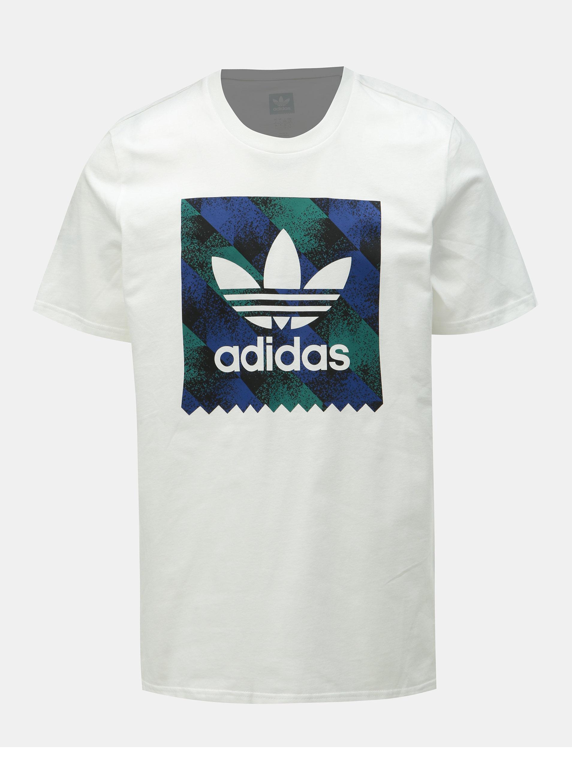 46829efb6b1a Biele pánske tričko s potlačou adidas Originals Towning ...