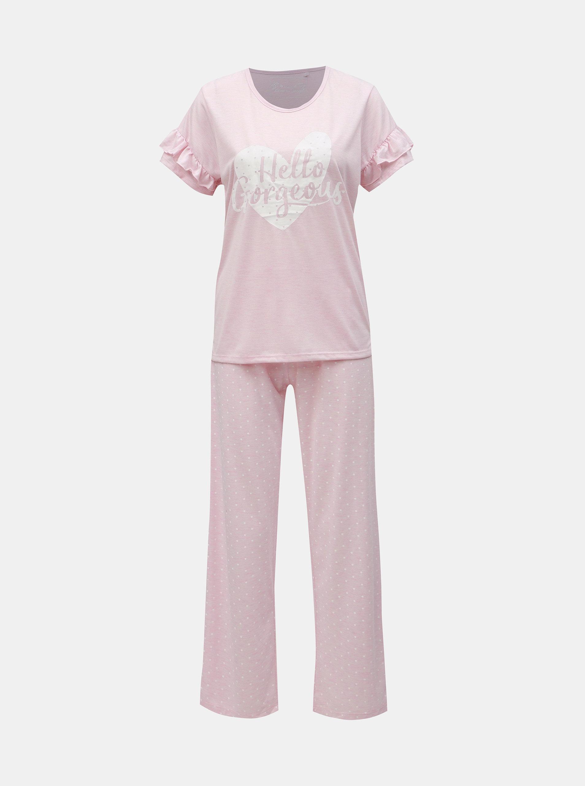 6b1316b2b Ružové melírované dvojdielne pyžamo s potlačou M&Co   ZOOT.sk