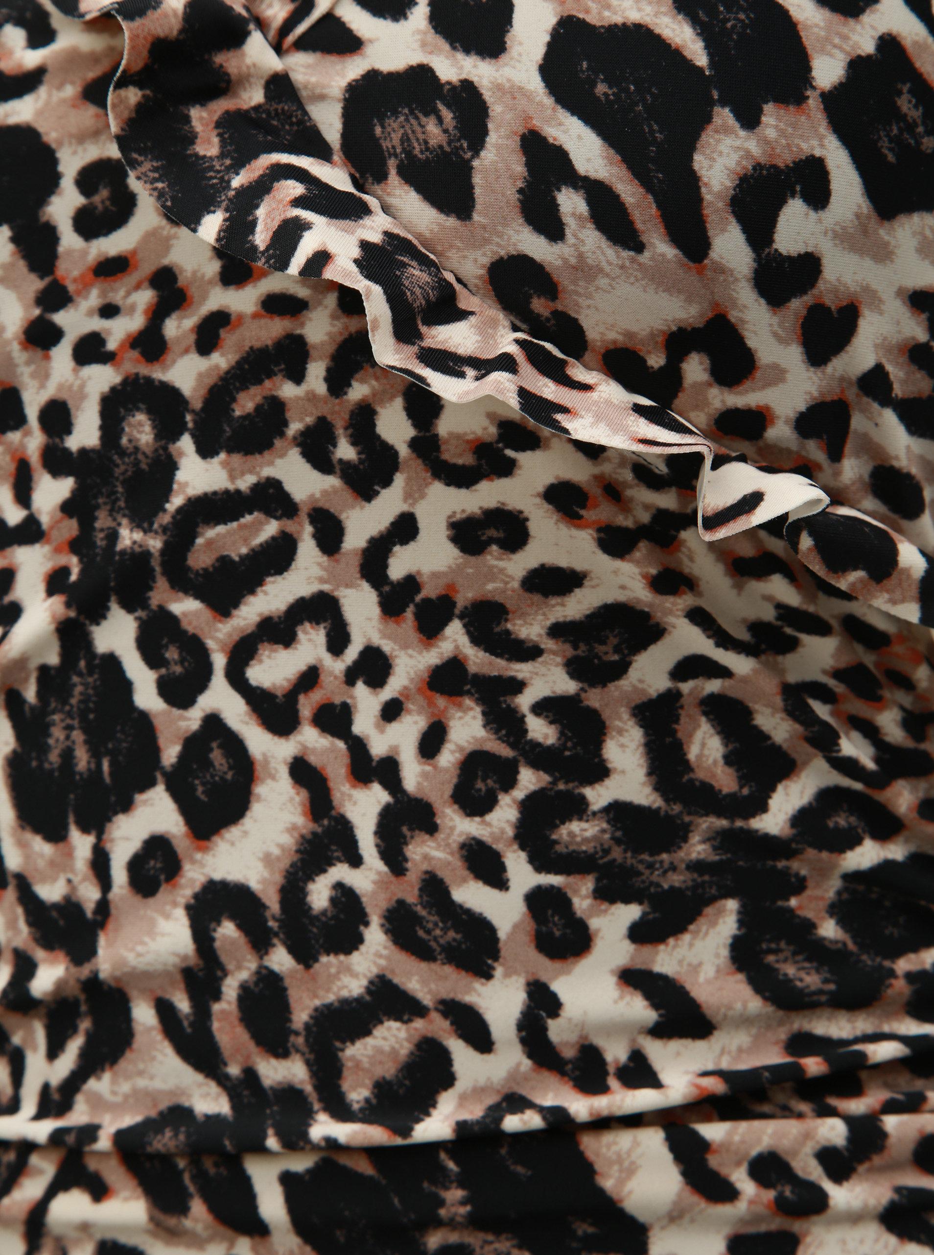 16aa2e7149c1 Hnedé jednodielne plavky s leopardím vzorom M Co ...