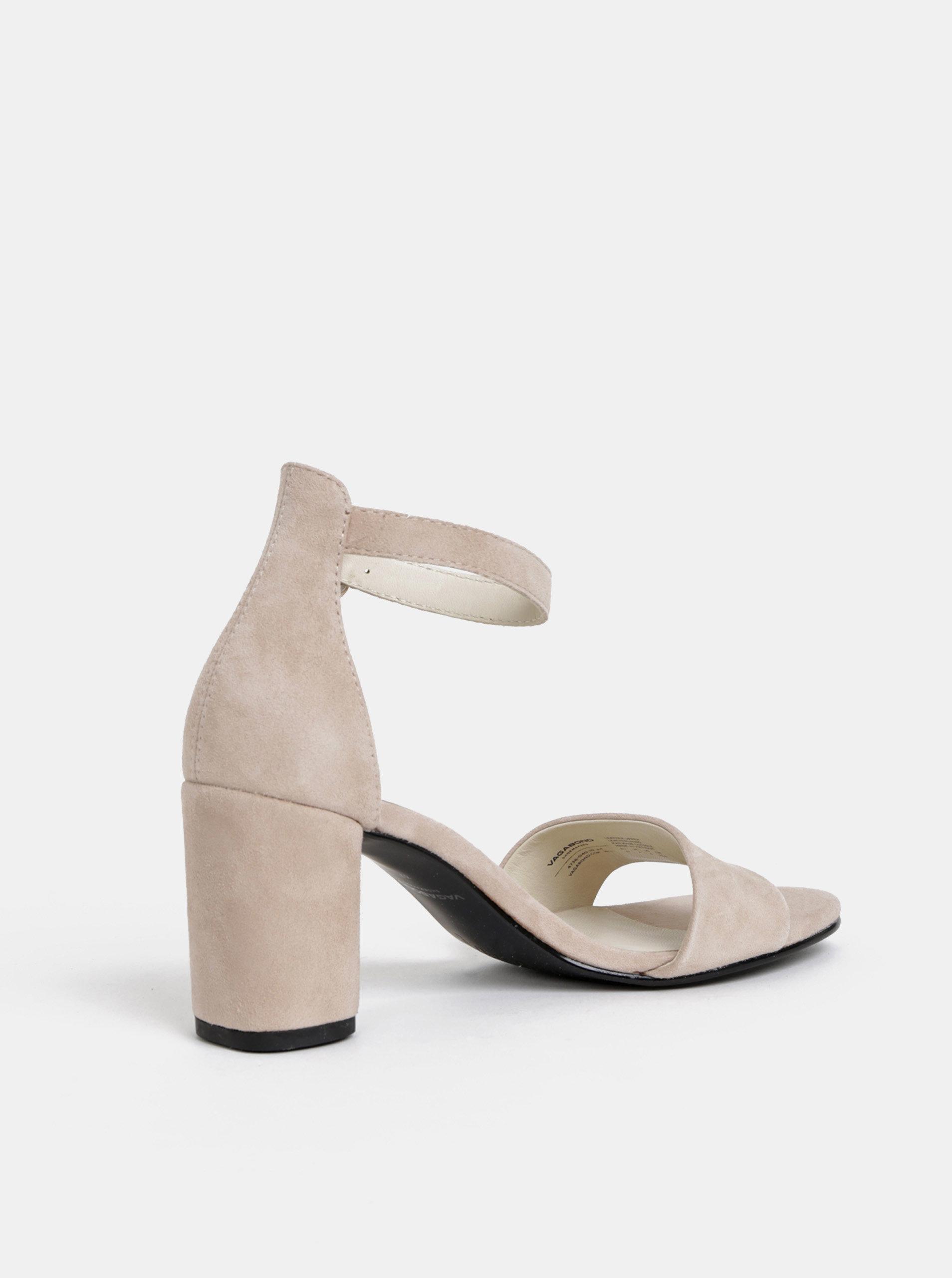 18cde2481c23 Světle růžové semišové sandálky Vagabond Penny ...