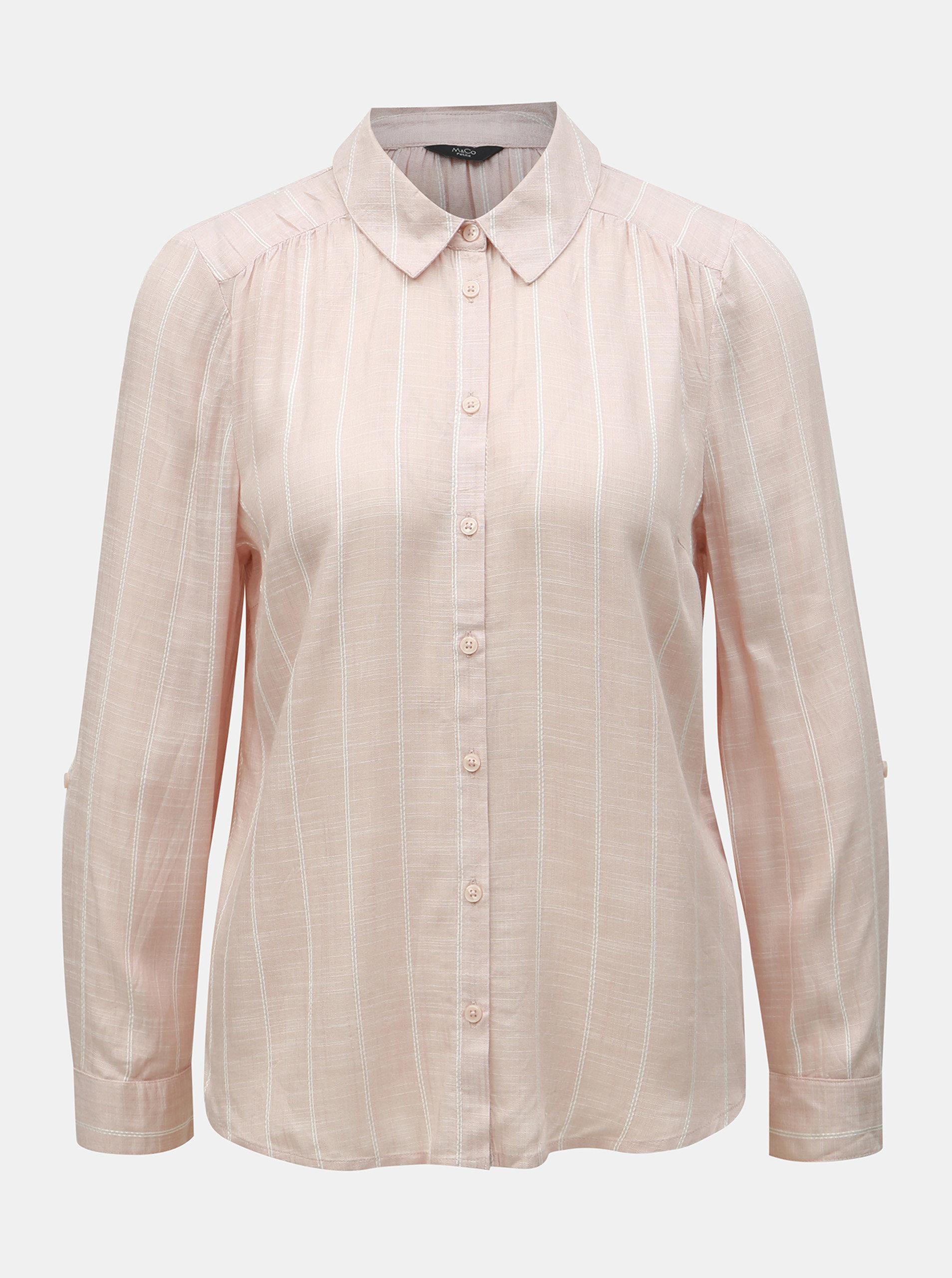 f06f271d4919 Ružová pruhovaná košeľa M Co Petite ...