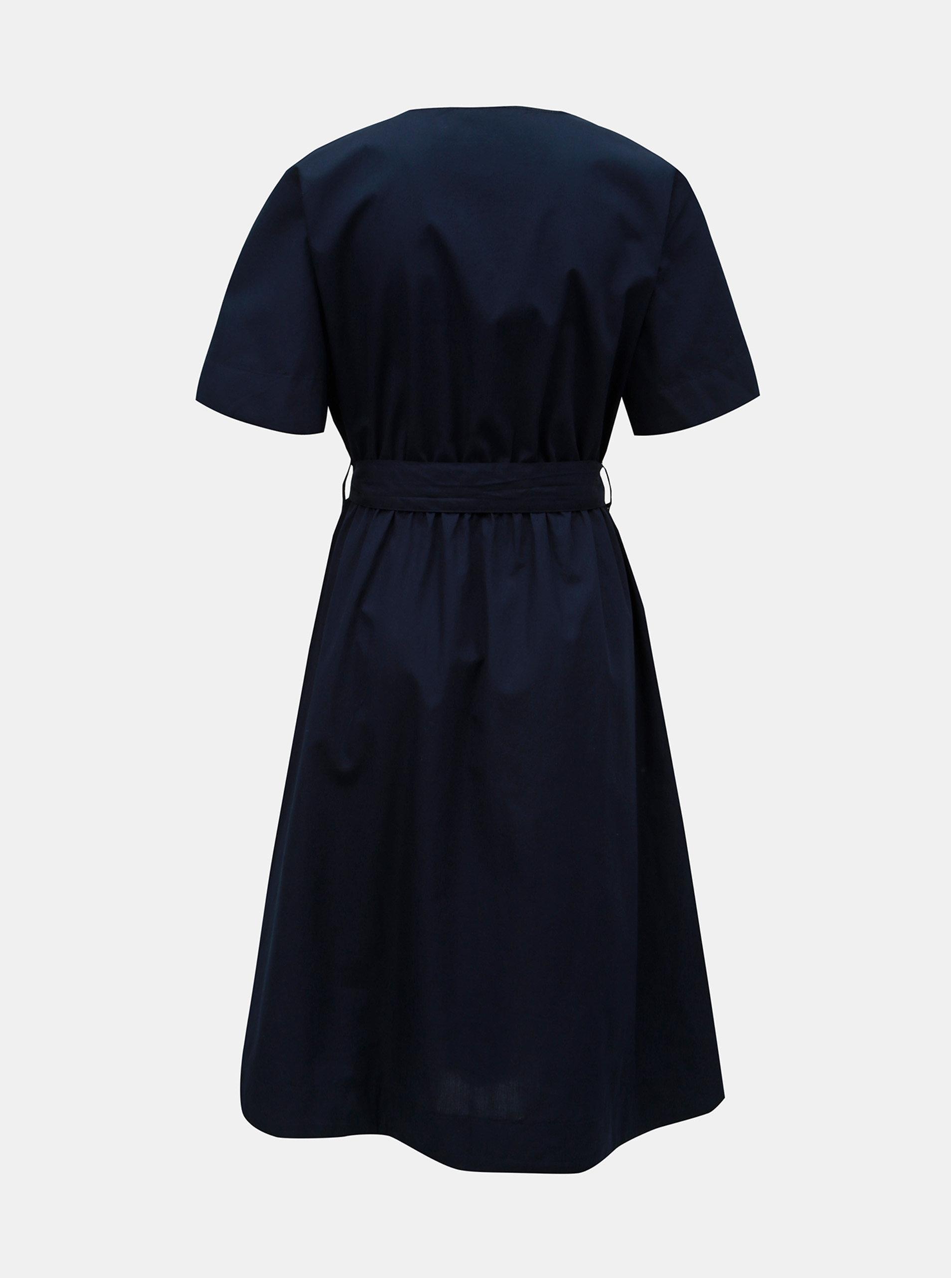 57ebb6697416 Tmavomodré šaty s opaskom VERO MODA Kammi ...