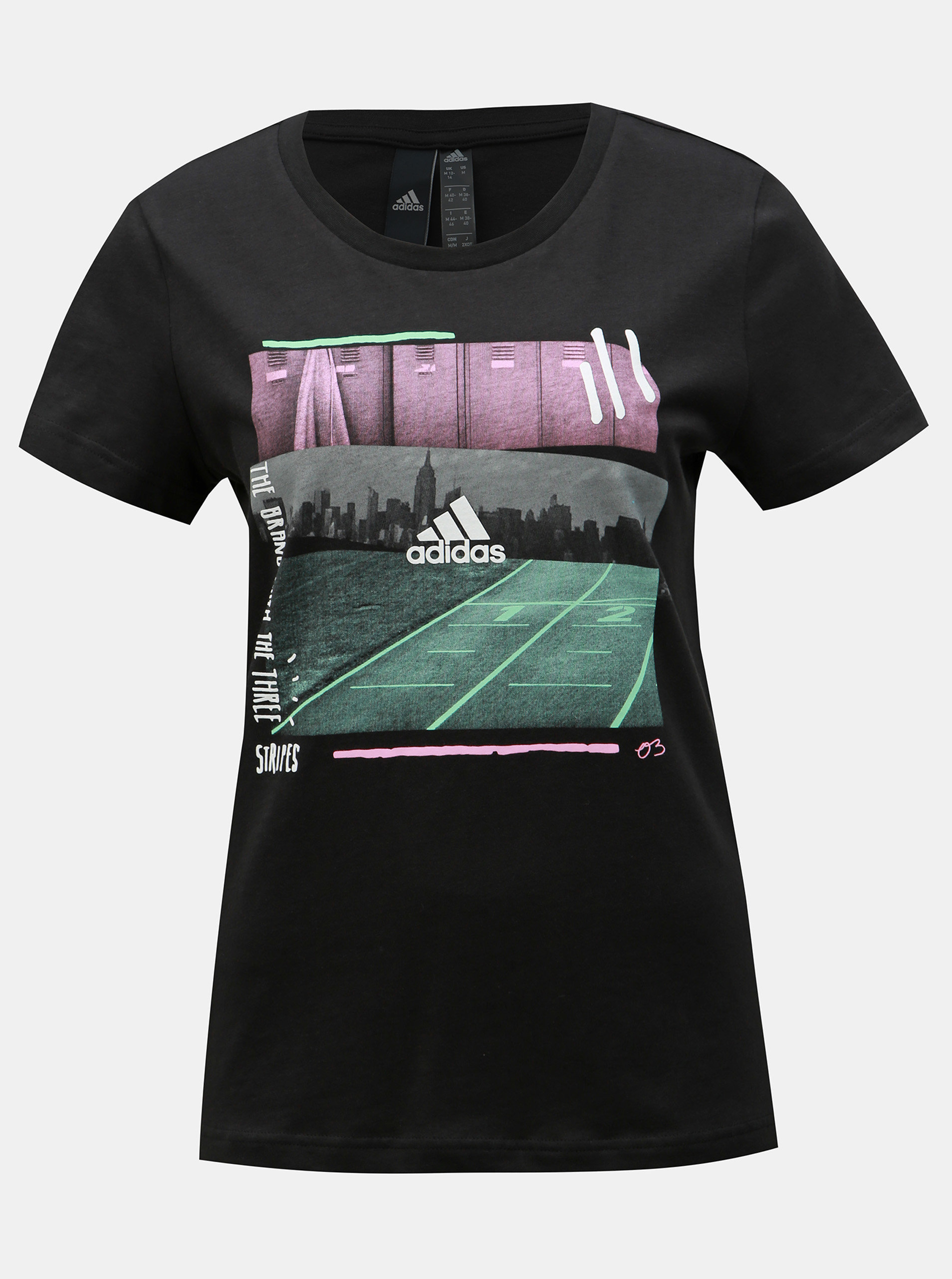 9f523fff8061 Čierne dámske tričko s potlačou adidas Performance ...