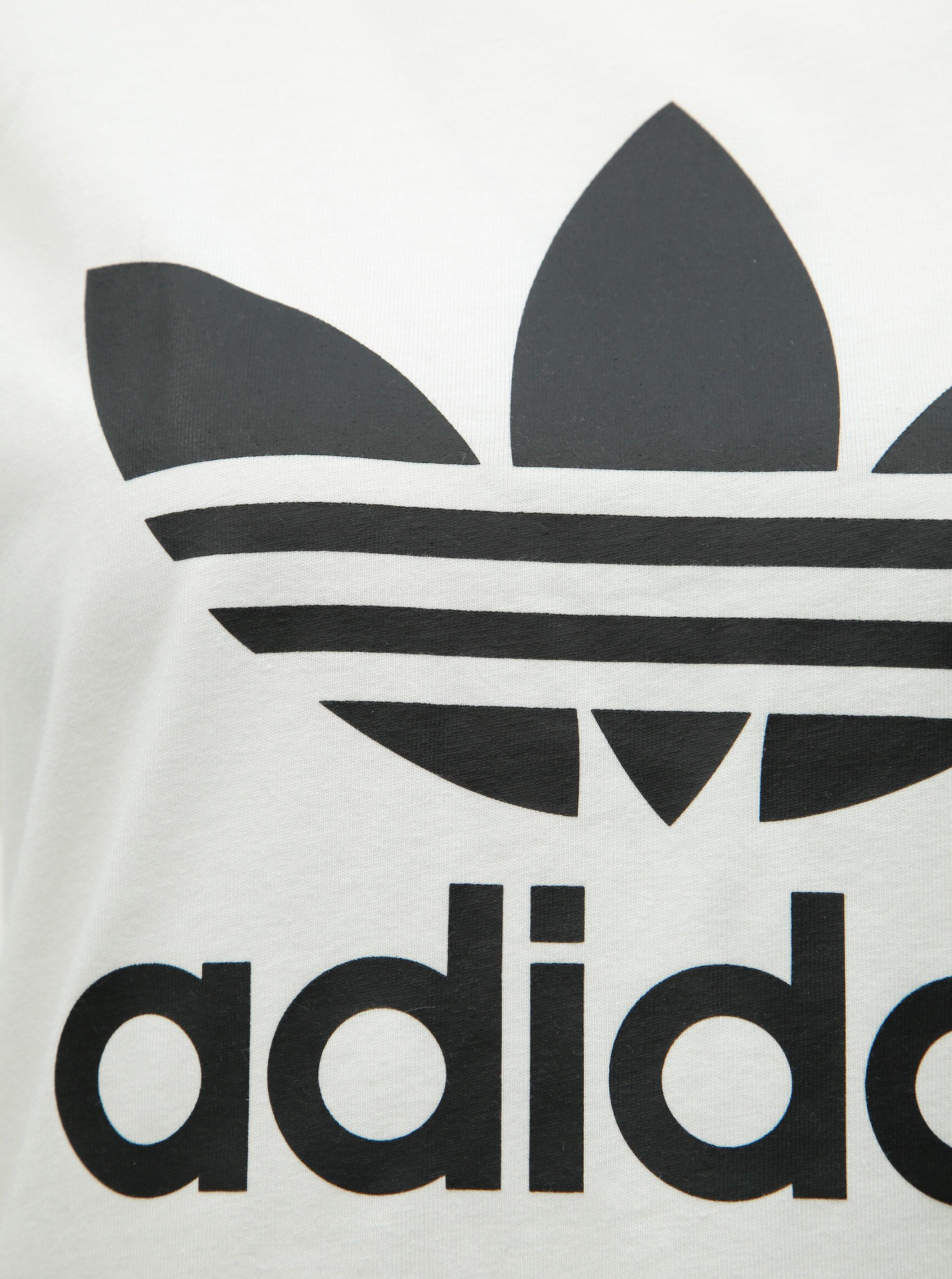 b2e4509e3 Biele dámske tričko s potlačou adidas Originals Trefioil ...