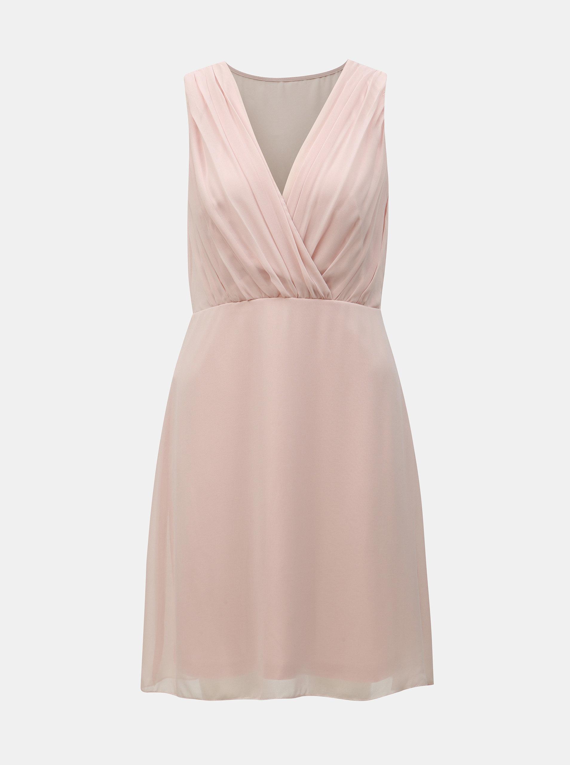 74f2df5ad75c Svetloružové šaty VILA Alli ...