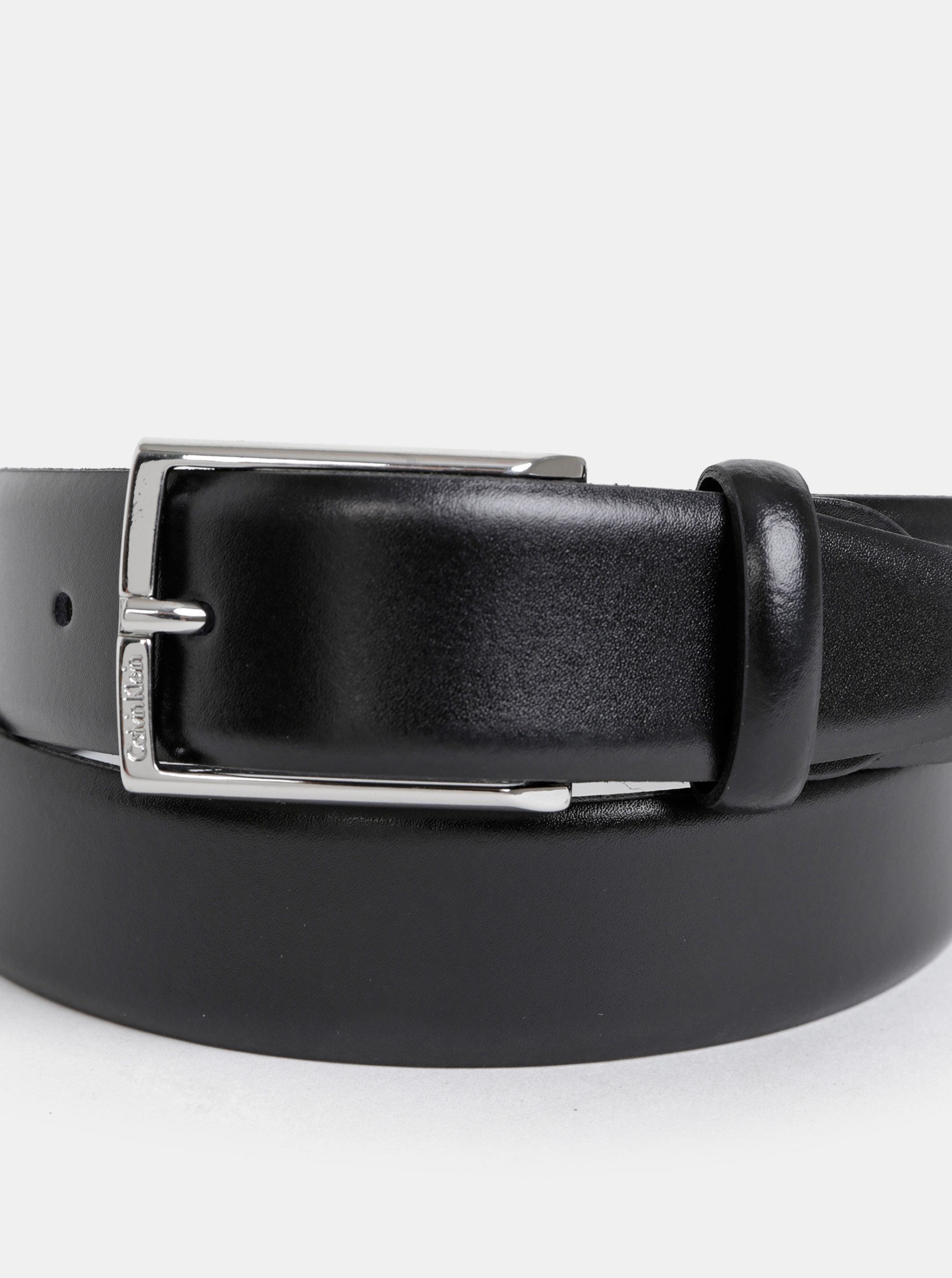 a16a8fa48f58 Čierny pánsky kožený opasok Calvin Klein Jeans ...