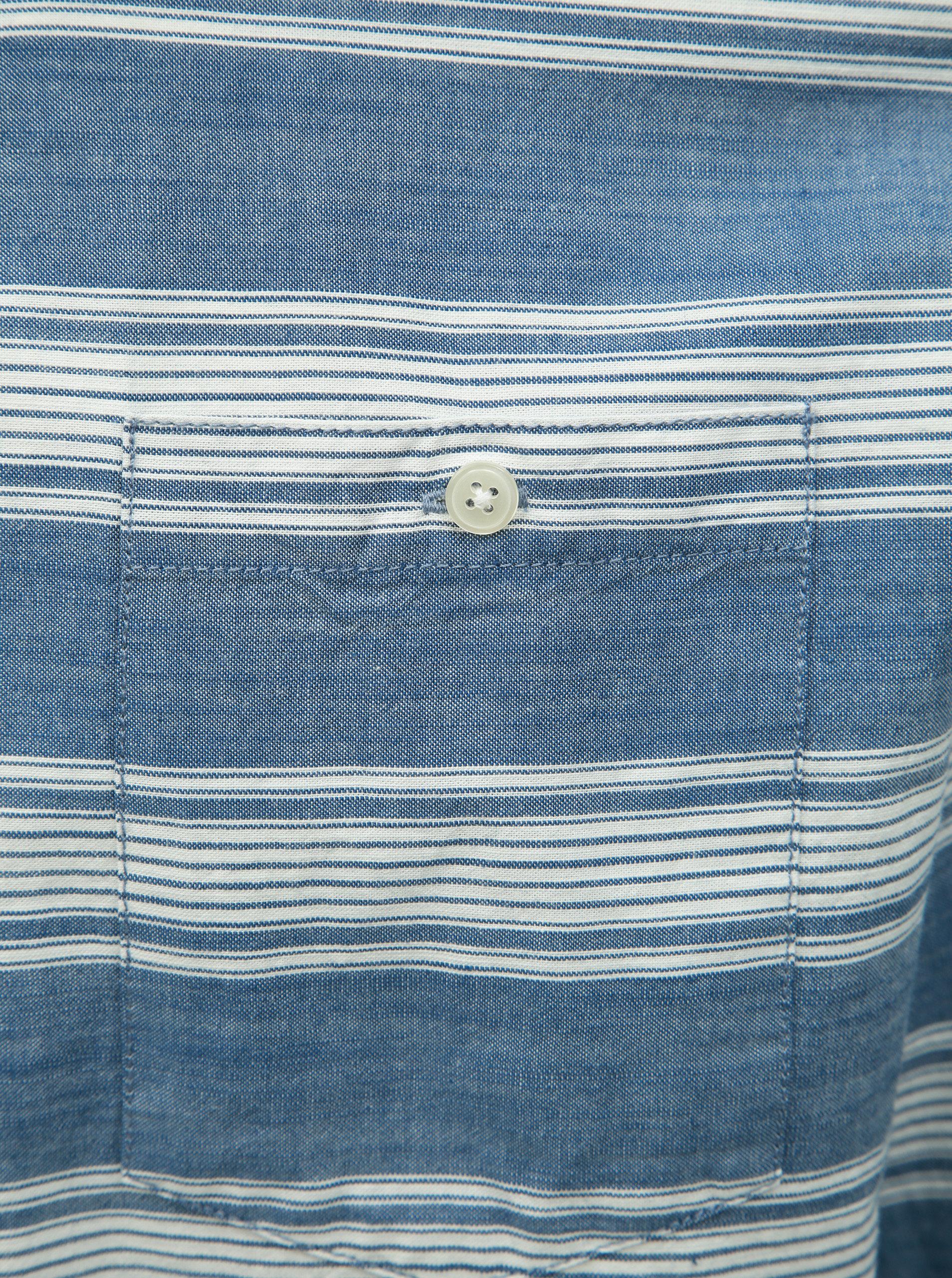 7d02e6dcc5e1 Bielo–modrá pruhovaná košeľa Shine Original