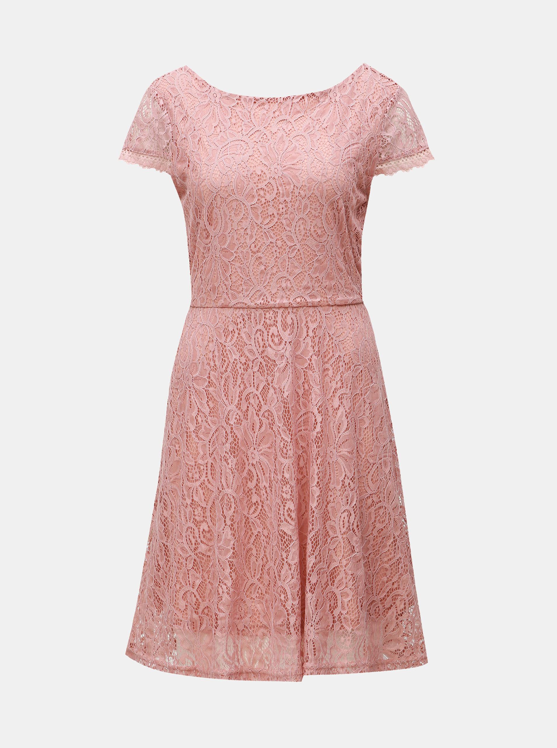 db93f65139c6 Staroružové čipkované šaty VERO MODA Sassa ...
