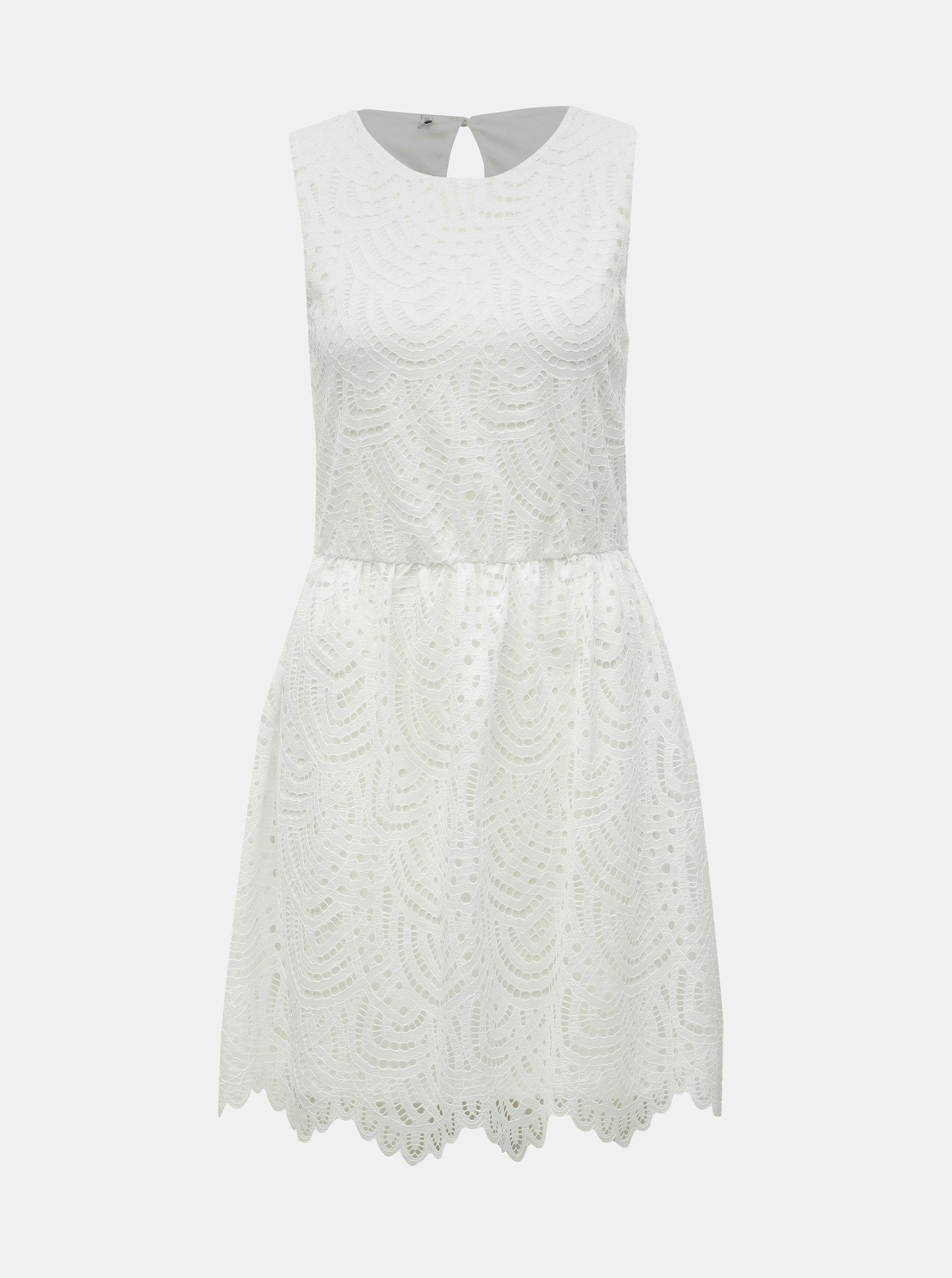 5c4211db1817 Biele čipkované šaty ONLY Edith ...
