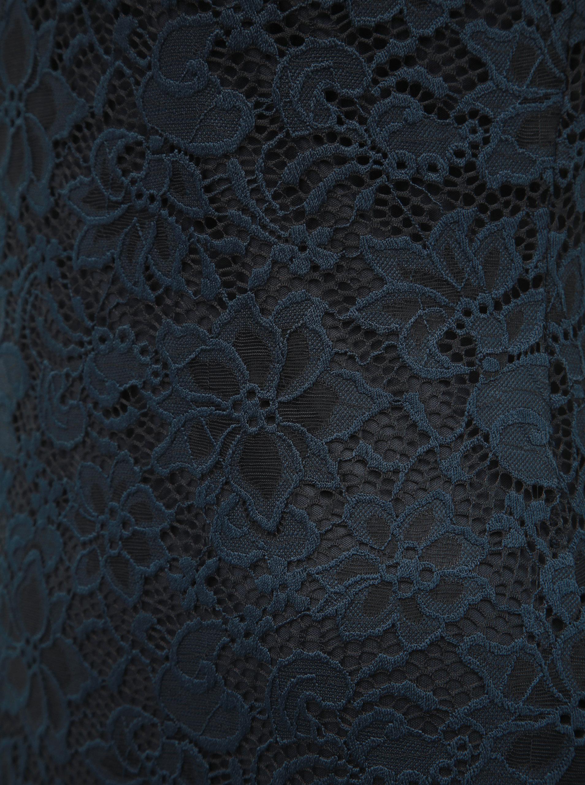 b9a09637f659 Tmavě modré krajkové šaty ONLY Alba ...