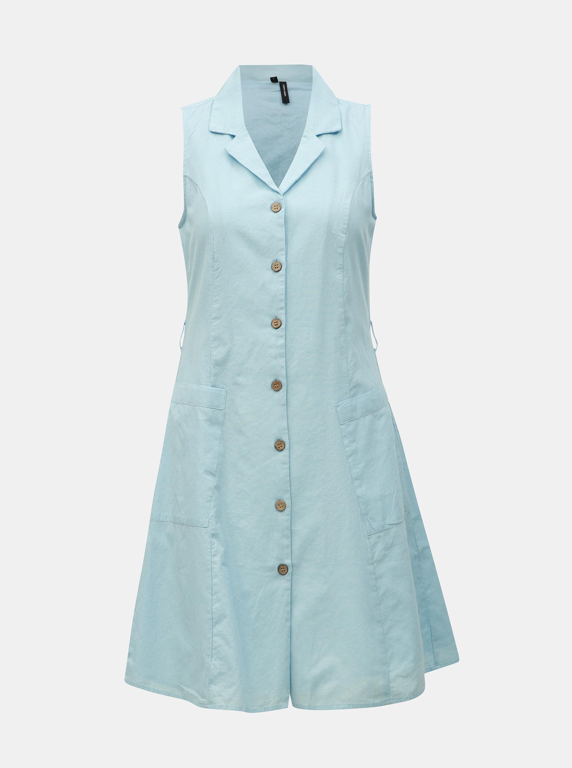 58d4eff1199c Svetlomodré košeľové šaty VERO MODA Abena ...